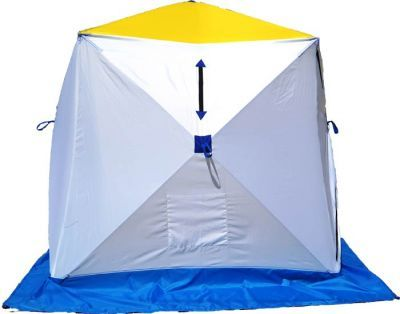 Палатка для зимней рыбалки Стэк Куб-1 трехслойнаяРыболовные палатки<br>Палатка для зимней рыбалки Стэк Куб-1 трехслойная позволяет рыбакам рационально использовать пространство. Сверлить лунки теперь можно прямо в установленной палатке. Габариты палатки позволяют делать это без каких-либо неудобств. В отличии от классических палаток-зонтиков, палатка-куб более ветроустойчива. Благодаря своей конструкции палатка выдерживает порывистый ветер. Из удобств - теперь при сборке палатки Вам не нужно заботиться о том, чтобы ткань была расправлена и случайно не зажата прутками, поэтому сборка происходит ещё быстрее. Все палатки Стэк Куб трехслойные выполнены из синтетической ткани Oxford 300PU с водонепроницаемой пропиткой, внутренние два слоя представляют собой стеганое полотно из синтепона и подкладочной ткани таффета (термост?жка). Каркас изготовлен из cтеклопластика с добавлением карбона. Это обеспечивает долговечность и непродуваемость палатки.<br>Характеристики<br><br><br><br><br> Вес:<br><br><br> 6,1 кг.<br><br><br><br><br> Водонепроницаемость:<br><br><br> 3000 мм.<br><br><br><br><br> Все размеры:<br><br><br> 150*150 см.<br><br><br><br><br> Высота:<br><br><br> 170 см.<br><br><br><br><br> Гарантия:<br><br><br> 1 год.<br><br><br><br><br> Каркас:<br><br><br> Стеклопластик с добавлением карбона<br><br><br><br><br> Материал внутренний:<br><br><br> стеганое полотно из синтепона и подкладочной ткани таффета (термост?жка)<br><br><br><br><br> Материал внешний:<br><br><br> Оксфорд 300PU<br><br><br><br><br> Особенности:<br><br><br> Вентиляционный клапан, карман для мелочей<br><br><br><br><br> Площадь:<br><br><br> 2,25 кв.м.<br><br><br><br><br> упаковка габариты см:<br><br><br> 110*40*40<br><br><br><br><br>