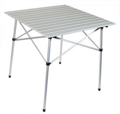Стол складной TREK PLANET Dinner 70 Roll-up (70669)Кемпинговая мебель<br><br> Стол складной TREK PLANET Roll-up Alu table 70 со столешницей из наборного алюминия предназначен для использования на природе, дома, охоте, рыбалке. Можно использовать как дачный столик, устанавливая его внутри и снаружи помещений. Позволяет вмещать компанию из 2-3 человек. Благодаря продуманной конструкции выполненной из алюминия стол получился легким. <br><br><br>Особенности: <br><br><br><br><br><br> Небольшой размер<br><br> <br><br><br> Очень легкий<br><br> <br><br><br> Столешница скручивается в рулон<br><br> <br><br><br> Комплектуется чехлом с лямкой для переноски и хранения<br><br> <br><br>Характеристики<br><br><br><br><br> Max вес пользователя:<br><br><br> 30 кг<br><br><br><br><br> Вес:<br><br><br> 2,9 кг<br><br><br><br><br> Все размеры:<br><br><br> 70*70*70 см<br><br><br><br><br> Высота:<br><br><br> 70 см<br><br><br><br><br> Каркас:<br><br><br> Рама: 19 мм алюминий с матовым покрытием<br><br><br><br><br> Материал:<br><br><br> Столешница: наборный алюминий с матовым покрытием<br><br><br><br><br> упаковка габариты см:<br><br><br> 72*13*13<br><br><br><br><br>