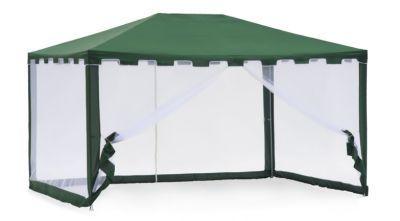 Садовый тент шатер Green Glade 1044Тенты Шатры<br><br> В этом шатре площадью 12 кв. м. комфортно разместится 13 человек.<br><br><br> Тент-шатер Green Glade 1044 – идеальное сочетание цены и качества для шатра площадью 12 кв.м. Может использоваться как альтернатива классической дачной беседке, так и при выезде на природу. Он как нельзя лучше подходит для тех, кому не нужен мощный стационарный тент и тем, кто пользуется тентом время от времени. Он легко собирается и разбирается, занимает мало места при хранении.<br><br><br> Часто такие шатры используют как тент над бассейном, чтобы туда не попадал мусор, листва, а также чтобы защититься от солнца, а может даже и дождя. А шатры с москитными сетками еще и прекрасно защитят купальщиков от насекомых.<br> В этом шатре, диаметр вписанной окружности которого 3 м, вы сможете разместить круглый бассейн диаметром не более 2,8 м.<br><br>Характеристики:<br><br><br><br><br> Вес:<br><br><br> 10 кг.<br><br><br><br><br> Все размеры:<br><br><br> 3(Д)х4(Ш)х2,5(В) м. Площадь - 12 кв. м.<br><br><br><br><br> Высота:<br><br><br> 2,5 м.<br><br><br><br><br> Каркас:<br><br><br> Металлическая трубка (16/19/25/32 мм), пластиковые соединения.<br><br><br><br><br> Материал:<br><br><br> Polyester 160 г.<br><br><br><br><br> Особенности:<br><br><br> Москитная сетка, зубчатый карниз. Стенки вшиты.<br><br><br><br><br> упаковка габариты см:<br><br><br> 113*19*22<br><br><br><br><br> Цветовое исполнение:<br><br><br> зеленый.<br><br><br><br><br>