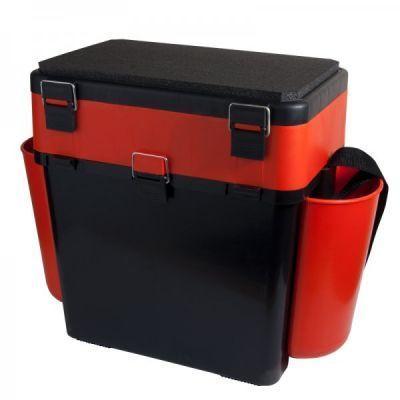Ящик для зимней рыбалки Helios FishBox 19лЗимние ящики рыболовные<br><br> В конструкции ящика для зимней рыбалки Helios FishBox 19л предусмотрено все, что создает рыболову комфортные условия ловли. Оптимальная форма и размер. Размер (длина - 500 мм (с учетом навесных карманов) и 380 мм (без навесных карманов),  высота - 395 мм, ширина - 255 мм) и пропорции ящиков специально рассчитаны таким образом, чтобы обеспечивать хорошую устойчивость, легкость в использовании, удобство при переноске. В положении сидя любой человек будет чувствовать себя комфортно. <br><br> Материал - морозоустойчивый, ударопрочный пластик, который не впитывает и не пропускает воду. Пластик не подвержен деформациям и прекрасно удерживает первоначальную форму ящика даже при значительном весе рыбака. Максимальная нагрузка на ящик – 130 кг. Ящик из такого пластика не впитывает запахи и легко отмоется от рыбной слизи, глины и других загрязнений. <br> Функциональное основное отделение служит своеобразным каркасом, предотвращающим прогибы ящика и надежно удерживающим вес рыбака. Объем основного отделения (19 литров) позволяет разместить все необходимое: термос, еду, снасти. Съемные перегородки предназначены для более удобного хранения принадлежностей.<br> Система навесных пластиковых карманов позволяет удобно расположить все, что должно находиться под рукой: багорик, запасные удочки, черпак и прочие рыболовные инструменты. Общий полезный объем ящиков за счет таких «карманов» значительно увеличивается. Их можно легко навесить и снять уже находясь на месте ловли.<br> На внутренней стороне откидной крышки размещены 4 прозрачных закрывающихся бокса, в которых достаточно места для блесен, балансиров, рыболовных крючков, мормышек и прочих мелких снастей.<br> Вставка-органайзер имеет две секции, где можно удобно разместить удильники, а при необходимости эти секции можно разделить на более мелкие отделы с помощью съемных перегородок, входящих в комплект. Также имеются 6 прорезей для фиксации коротких удочек.<