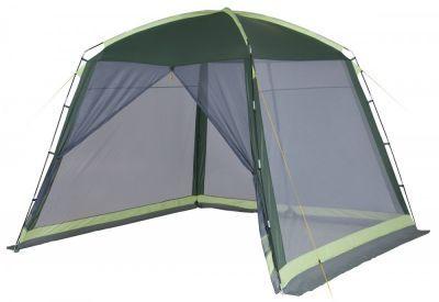 Тент-шатер Trek Planet Barbeque Dome (70257)Тенты Шатры<br><br> В этом шатре площадью 9 кв. м. комфортно разместится 10 человек.<br><br><br> Универсальный шатер TREK PLANET Barbeque Dome отлично подойдет как для дачи, в качестве беседки или полевого навеса. Все стороны из москитной сетки позволяют шатру отлично проветриваться, защищая от насекомых.<br><br><br> Особенности шатра:<br><br><br> - Большие москитные сетки со всех четырех сторон,<br> - Два входа в шатер,<br> - Легко собирается и разбирается,<br> - Двери из москитной сетки с молнией по центру, удобно сворачиваются по бокам,<br> - Каркас выполнен из прочного стеклопластика, <br> - Защитный полог по всему периметру защищает от насекомых,<br> - Возможность подвески фонаря.<br><br><br> Палатка упакована в сумку-чехол с ручками, застегивающуюся на застежку-молнию.<br><br><br><br><br> Часто такие шатры используют как тент над бассейном, чтобы туда не попадал мусор, листва, а также чтобы защититься от солнца, а может даже и дождя. А шатры с москитными сетками еще и прекрасно защитят купальщиков от насекомых.<br> В этом шатре, диаметр вписанной окружности которого 3 м, вы сможете разместить круглый бассейн диаметром не более 2,8 м<br><br>Характеристики:<br><br><br><br><br><br><br> Вес:<br><br><br> 5,3 кг.<br><br><br><br><br> Водонепроницаемость:<br><br><br> 1000 мм. водяного столба<br><br><br><br><br> Все размеры:<br><br><br> 3,05Д)*3,05(Ш)*2,18(В) м. Площадь - 9 кв. м.<br><br><br><br><br> Высота:<br><br><br> 218 см.<br><br><br><br><br> Каркас:<br><br><br> стеклопластик 11мм.<br><br><br><br><br> Материал:<br><br><br> 100% полиэстер, пропитка PU<br><br><br><br><br> Обработка швов:<br><br><br> проклееные швы<br><br><br><br><br> упаковка габариты см:<br><br><br> 60*20*20<br><br><br><br><br>