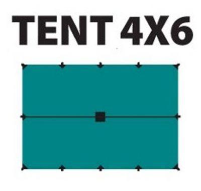 Тент Tramp 4*6 м TRT-102.04Тенты туристические, пляжные, специальные<br>Тент Tramp 4x6 м - идеальная защита от дождя и солнца, пригодится как на даче, так и в любых походах. Сделан из качественного материала 100% Полиэстера, который не пропускает влагу. Углы усилены вставками из прочной ткани. Центр тента также усилен вставкой из прочной ткани. С тентом идет полный комплект оттяжек.<br>Характеристики:<br><br><br><br><br><br><br> Вес:<br><br><br> 1,5 кг.<br><br><br><br><br> Водонепроницаемость:<br><br><br> 4000 мм в.ст.<br><br><br><br><br> Все размеры:<br><br><br> 4*6 м.<br><br><br><br><br> Гарантия:<br><br><br> 6 месяцев.<br><br><br><br><br> Материал:<br><br><br> 100% Полиэстер 75D/190T Taffeta<br><br><br><br><br> упаковка габариты см:<br><br><br> 37*20*12<br><br><br><br><br>