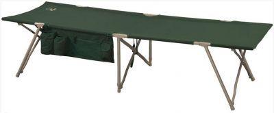 Кровать раскладушка туристическая Greenell BD-3 (71161-366-00)Кемпинговая мебель<br><br> Для отличного отдыха в кемпинге Вам не хватает только удобной кровати?<br><br><br> Прямо сейчас у Вас есть возможность купить замечательную складную кровать Greenell BD-3. Особенностью модели является надежный механизм быстрой установки, а также специальные отсеки для хранения различных вещей – кружки, термоса и т.п.<br><br><br> Прочие нюансы:<br><br><br> • Каркас выполнен из долговечной стали с нанесением защитного порошкового покрытия.<br> • Материал полиэстер 600D, которым обтянута кровать, характеризуется достаточной прочностью и стойкостью к стиранию.<br> • Изделие способно выдерживать вес в пределах 120 кг.<br> • Кровать достаточно твердая и не прогибается под тяжестью тела.<br> • Для транспортировки и хранения предусмотрен чехол.<br><br><br> С кроватью Greenell BD-3 комфортный сон на природе Вам гарантирован!<br><br>Характеристики<br><br><br><br><br> Max вес пользователя:<br><br><br> 120 кг.<br><br><br><br><br> Вес:<br><br><br> 7,5 кг.<br><br><br><br><br> Все размеры:<br><br><br> 190*64 см<br><br><br><br><br> Высота:<br><br><br> 43 см<br><br><br><br><br> Гарантия:<br><br><br> 6 месяцев.<br><br><br><br><br> Каркас:<br><br><br> Сталь ?22мм, порошковое покрытие<br><br><br><br><br> Материал:<br><br><br> полиэстер 600D + ПВХ с набивкой из пеноматериалов<br><br><br><br><br> Особенности:<br><br><br> Чехол для хранения и переноски. Механизм быстрой, легкой установки и сборки.<br><br><br><br><br> упаковка габариты см:<br><br><br> 95*16*13<br><br><br><br><br>