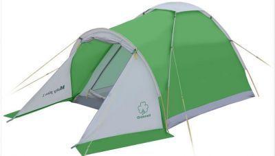 Палатка Greenell Моби 2 плюсТуристические палатки<br>Greenell Моби 2 плюс это легкая и компактная однослойная палатка с небольшим тамбуром. Вентиляция на крыше под клапаном плюс большое вентиляционное окно напротив входа. В отличие от большинства аналогичных бюджетных палаток, у которых дно из армированного полиэтилена, палатка Моби имеет дно из полиэстера. Идеальна при частой смене лагеря (легко перемещать с места на место, а при необходимости можно закрепить с помощью штормовых оттяжек).<br>Характеристики:<br><br><br><br><br> Вес:<br><br><br> 2,1 кг.<br><br><br><br><br> Водонепроницаемость:<br><br><br> Тент 2000 мм, дно 3000 мм.<br><br><br><br><br> Все размеры:<br><br><br> общие 290(Д)x120(Ш)x110(В) см //спальное место 200(Д)x120(Ш)x110(В) см<br><br><br><br><br> Высота:<br><br><br> 110 см.<br><br><br><br><br> Каркас:<br><br><br> фиберглас 6,9/7,9 мм.<br><br><br><br><br> Материал пола:<br><br><br> Polyester 190T PU 3000<br><br><br><br><br> Материал внешний:<br><br><br> Polyester 190T PU 2000<br><br><br><br><br> Обработка швов:<br><br><br> проклеенные швы.<br><br><br><br><br> Особенности:<br><br><br> небольшой тамбур, противомоскитная сетка на входе в спальное отделение<br><br><br><br><br> упаковка габариты см:<br><br><br> 55*12*12<br><br><br><br><br>