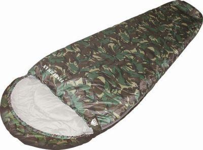Спальный мешок Trek Planet Fisherman (70322)Спальные мешки<br>Комфортный, просторный, теплый и удобный спальник-кокон TREK PLANET Fisherman в камуфляжном исполнении предназначен для летне-осенних поездок на природу. Идеально подойдет для людей, любящих походы, рыбалку, охоту или просто качественные камуфляжные вещи в цветах британского DPM.<br>Характеристики:<br><br><br><br><br><br><br> Цвет<br><br><br> Камуфляж <br><br><br><br><br> Тип<br><br><br> Кокон <br><br><br><br><br> Размер<br><br><br> 230 х 85 (55) см <br><br><br><br><br> Серия<br><br><br> Камуфляж <br><br><br><br><br> t комфорт, С°<br><br><br> 6 <br><br><br><br><br> t лимит комфорта, С°<br><br><br> 0 <br><br><br><br><br> t экстрим, С°<br><br><br> -13 <br><br><br><br><br> Внешний материал<br><br><br> Полиэстер <br><br><br><br><br> Внутренний материал<br><br><br> Полиэстер <br><br><br><br><br> Утеплитель<br><br><br> Hollowfiber 2х150 г/м2 <br><br><br><br><br> Размер в чехле<br><br><br> 25 x 25 x 39 см <br><br><br><br><br> Вес<br><br><br> 1,6 <br><br><br><br><br> Вид<br><br><br> Кокон <br><br><br><br><br> Тип (OLD)<br><br><br> Камуфляж<br><br><br><br><br>