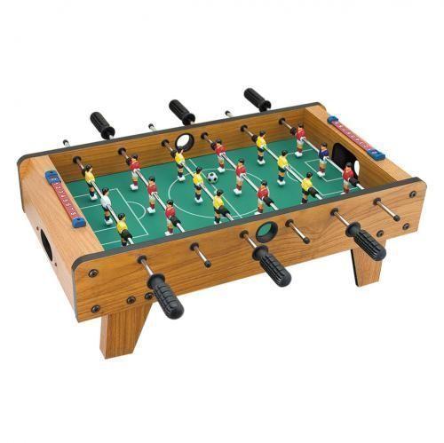 Настольный футбол TableTop Foosball D007 - 69x37x24см, игра для детейНастольный футбол<br>Настольный футбол TableTop Foosball D007 - 69x37x24см<br> <br>Настольный футбол TableTop Foosball D007 является более крупным вариантом настольного футбола TableTop D001. Предназначен для стационарной установки на игровом столе либо на полу.<br><br>Особенности настольного футбола TableTop Foosball D007<br> <br>Эта модель футбола от TableTop оснащена шестью игровыми рукоятками по 3 игрока на каждой. Для большего удобство игры площадка устанавливается на ножки, благодаря чему играть в этот настольный футбол удобно даже на полу.<br><br>Сборка<br> <br>Настольный футбол поставляется в разобранном виде. Для его сборки не потребуются дополнительные инструменты, все необходимые ключи идут в комплекте. Сборка не сложная и осуществляется по инструкции.<br><br>Характеристики:<br> <br>Габариты: 69х37х24 см<br> <br>Вес: 4,1 кг<br> <br>Количество ручек: 6<br> <br>Количество фигурок игроков: 18<br><br>Комплектация:<br> <br>1. Настольный футбол TableTop<br> <br>2. Мяч - 2 шт.<br> <br>3. Инструкция<br>