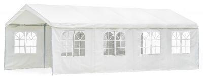 Садовый тент шатер Green Glade 1093  (комплект из 2-х коробок)Тенты Шатры<br><br> В этом шатре площадью 32 кв. м. комфортно разместится 36 человек.<br><br><br> Садовый тент Green Glade 1093 прекрасно подходит для активного отдыха на природе большой семьи или компании друзей. Шатер защитит от солнечных лучей в жаркие летние дни, а также от небольшого дождя. Тент имеет устойчивую конструкцию за счет прочности металлического трубчатого каркаса. Благодаря наличию двух входных занавесок исключено попадание насекомых внутрь шатра.<br><br>Характеристики:<br><br><br><br><br> упаковка габариты 2 место см:<br><br><br> 71*51*45<br><br><br><br><br> Вес:<br><br><br> 77 кг.<br><br><br><br><br> Все размеры:<br><br><br> 8(Д)х4(Ш)х2,9(В) м. Площадь - 32 кв. м.<br><br><br><br><br> Высота:<br><br><br> 2,9 м в коньке.<br><br><br><br><br> Каркас:<br><br><br> металлическая трубка (38/38/38мм), металлические соединения.<br><br><br><br><br> Материал:<br><br><br> полиэстер 200 г. / м2.<br><br><br><br><br> Особенности:<br><br><br> 8 стенок + 2 входные занавески. Стенки на кольцах.<br><br><br><br><br> упаковка габариты см:<br><br><br> 196*28*23<br><br><br><br><br> Цветовое исполнение:<br><br><br> белый.<br><br><br><br><br>