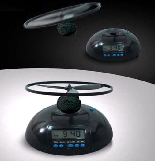 Летающий будильник вертолет Flying Alarm Clock, прикольный будильник (необычный)Необычные будильники<br>Летающий будильник вертолет Flying alarm clock<br> <br>Сложно проснуться утром, а опаздывать категорически нельзя? Сон – неотъемлемая часть в жизни каждого из нас, и сложно найти человека, который не любит понежиться в кровати. Увы, мало людей, которые могут позволить себе такую роскошь, ведь постоянные заботы, работа и важные встречи не терпят отлагательств. Именно поэтому летающий будильник вертолет Flying Alarm Clock не позволит проспать нужное время, каким бы ни был крепким ваш сон. Такой будильник – это удобно, интересно и дешево.<br> <br> <br>Что же может будильник?<br> <br>Flying Alarm Clock – это уникальное изобретение, которое является необходимой находкой для большинства людей. С летающим будильником вы можете забыть о проблеме трудного подъема по утрам, а также он станет удачным и необычным подарком для ваших близких и друзей. Стоит отметить, что взлетать может лишь часть будильника – его пропеллер, так как вся конструкция довольно тяжелая. Это полностью обезопасит жителей дома от травм. Для того, чтобы остановить сигнал, требуется установить пропеллер обратно на будильник. Работа летающего будильника заключается в том, что, когда наступает время подъема, механизм начинает активизироваться и пропеллер раскручивается. Когда начинает звучать сигнал, пропеллер летает по всей комнате. Стоит отметить, что сигналом является настоящая сирена. Она будет звучать до тех пор, пока вы не найдете куда улетел волчок. После этого его нужно закрепить в специальный паз на базе Flying Alarm Clock. Такой подъем несомненно прибавит вам бодрости и энергии на целый день. Купить такой недорогой будильник стоит тем, кому просто необходимо просыпаться вовремя! К тому же цена будильника очень порадует. А пока пропеллер будет улетать, а вы будете искать и находить его по комнате, это станет также отличной зарядкой с утра.<br> <br> <br>Преимущества<br> <br>Flying Alarm Clock стане