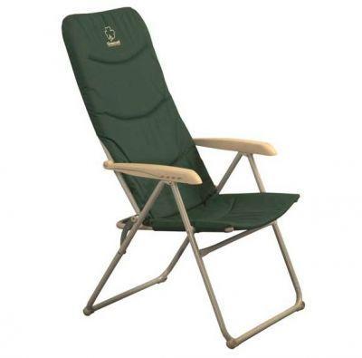 Кресло складное Greenell FC-9 (71091-303-00)Кемпинговая мебель<br><br> Очень удобное мягкое кемпинговое кресло, которое можно использовать при выезде на природу, на рыбалке, на даче.<br><br><br> Кресло сделано из 22 миллиметровой стальной трубы с порошковым покрытием.<br><br><br> Оно сделано для людей с весом до 120 кг.<br><br><br> Ткань полиэстер 600 D — это очень прочный материал, который используется в надежной кемпинговой мебели, благодаря своей прочности иплотности, а также устойчивости к воздействию солнца и дождя.<br><br><br> Кроме того спинка и сиденье наполнены специальным пеноматериалом, за счет чего кресло невероятно удобно, и даже излучает тепло. Если выкогда-либо в холодную погоду сидели на простом кемпинговом кресле с одним слоем ткани или сетчатым покрытием, то Вы сразу почувствуетеразницу. В этом кресле даже в холодную погода спина и попа не замерзнут!<br><br><br> Подлокотники выполнены из очень качественного пластика, не скользкого, приятного на ощупь.<br><br><br> Кресло имеет регулировку наклона спинки, Вам нужно всего лишь поднять подлокотники, откинуть спинку в нужное положение и снова опустить подлокотники.<br><br><br> Обратите внимание на добротность исполнения: сочленения каркаса выполнены не на клепках, а на специальных болтах, а пластиковые уголки на ножках придают бОльшую устойчивость этому креслу.<br><br>Характеристики<br><br><br><br><br> Max вес пользователя:<br><br><br> 120 кг.<br><br><br><br><br> Вес:<br><br><br> 5,52 кг<br><br><br><br><br> Все размеры:<br><br><br> 49*43*42/113 см<br><br><br><br><br> Гарантия:<br><br><br> 6 месяцев.<br><br><br><br><br> Каркас:<br><br><br> Сталь ?22мм, порошковое покрытие<br><br><br><br><br> Материал:<br><br><br> полиэстер 600D + ПВХ с набивкой из пеноматериалов<br><br><br><br><br> упаковка габариты см:<br><br><br> 95*59*10<br><br><br><br><br>