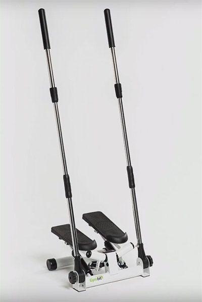 Степпер GymBit Скандинавская ходьбаПоворотные степперы<br><br> Степпер GymBit «Скандинавская ходьба» обеспечивает тренировку «2 в 1»:<br><br><br>кардионагрузку и проработку мышц ног, стандартную для степперов,<br>имитацию скандинавской ходьбы, позволяющую проработать мышцы верхней части тела.<br><br><br>Устойчивость и безопасность<br><br> Устойчивая рама и противоскользящие педали обеспечивают безопасность тренировок. Пока ступни нажимают на ножные педали, руками вы держите ручки степпера. Положение ручек регулируется, они поворачиваются, обеспечивается контроль движений во время тренировки, поэтому движения уверенные и правильные. Просто включайте любимую музыку и тренируйтесь в комфортной домашней обстановке.<br><br><br>Мощный эффект<br><br> Шагатели позволяют выполнять повороты и скручивания, поэтому вы прорабатываете не только мышцы ног, но и поясницу, бедра, ягодицы, пресс! Подбирайте под себя параметры тренировки — контролируйте амплитуду и характер движений, увеличивая или уменьшая нагрузку.<br><br><br><br>Скандинавская ходьба — не выходя из дома!<br><br> Ручки степпера не взаимосвязаны с педалями и друг с другом, за счет чего реалистично имитируют нагрузку, возникающую во время скандинавской ходьбы, известной своим оздоровительным, укрепляющим эффектом. Обеспечивается превосходная проработка верхней части тела. Теперь лечебный эффект скандинавской ходьбы доступен вам в любую погоду, круглый год!<br><br><br> Уровень сопротивления каждой ручки регулируется путем затягивания или ослабления рукояток у основания. Поэтому вы легко сможете увеличивать нагрузку по мере роста вашей физической подготовки, чтобы не снижать эффективность тренировок.<br><br><br>Все под контролем<br><br> С помощью компьютера можно точно отслеживать параметры тренировки. Благодаря крупному ЖК-дисплею все показатели превосходно читаются. Компьютер фиксирует:<br><br><br><br>длительность тренировки,<br>количество сожженных калорий,<br>количество сделанных шагов,<br>количество шагов в минуту.<