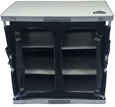 Кухня кемпинговая складная TREK PLANET AC-585DКемпинговая мебель<br><br> Складной кухонный стол TREK PLANET предназначен для использования на природе, дома, дачи.<br><br><br>Столешница из огнеупорного пластика<br>Нижняя панель из алюминия<br>2 секции с дверцами на молнии<br>3 пластиковые съемные полки в каждой секции<br>Карманы на боковых панелях<br>Добавит комфорта и порядка в Ваш отдых на природе<br>Компактно складывается в плоский чемоданчик с ручкой для переноски.<br><br><br> Бренд TREK PLANET прекрасно зарекомендовал себя на рынке, предлагая широкий ассортимент товаров для туризма и отдыха отличного качества.<br><br>Характеристики<br><br><br><br><br> Вес:<br><br><br> 10.6 кг.<br><br><br><br><br> Все размеры:<br><br><br> 84*50*80 см<br><br><br><br><br> Гарантия:<br><br><br> 6 месяцев.<br><br><br><br><br> Каркас:<br><br><br> 19 мм алюминий с матовым покрытием<br><br><br><br><br> Материал:<br><br><br> Столешница из огнеупорного пластика. Рама: 19 мм алюминий с матовым покрытием.<br><br><br><br><br> Особенности:<br><br><br> Нагрузка: 30 кг.<br><br><br><br><br> упаковка габариты см:<br><br><br> 82*52*11<br><br><br><br><br>