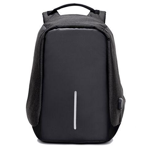 Умный рюкзак антивор с защитой от карманников, черныйРюкзаки антивор<br>Умный рюкзак антивор с защитой от карманников, черный<br><br> Вы ищете идеальный рюкзак для командировки или просто передвижения по городу? Вы хотите быть уверенным в том, что все ваши ценности находятся в безопасности? Для вас важен стильный внешний вид?<br><br><br> С новым уникальным рюкзаком антивором черным вы будете выглядеть стильно, а все ваши вещи находиться под защитой. Так что забудьте о компромиссах  между красотой и безопасностью.<br><br><br> Современный умный рюкзак антивор сделан с применением особой технологии, которая помогает защитить ваши вещи от карманников и воров, а также убережет их от повреждений в результате ударов или падений.<br><br><br><br><br>Особенности рюкзака<br><br> Современному активному человеку постоянно приходится носить с собой все больше вещей, включая ноутбук, смартфон, портативные зарядные устройства, не говоря уже о кошельке и документах.<br><br><br> Именно поэтому на первый план при выборе сумки или рюкзака для транспортировки всего этого богатства выходит его надежность и безопасность, а также возможность уберечь вещи от кражи.<br><br><br> С появлением на рынке недорого рюкзака антивор черного вам больше не придется изобретать разные способы защиты своего имущества от кражи.<br><br><br> Секрет этого уникального рюкзака состоит в том, что благодаря своей особой конструкции он может надежно сохранить вещи не только от дождя или падения, но и от самых ловких и избирательных карманников.<br><br><br> Как известно, в большинстве случаев кражи из рюкзаков происходят путем открывания молнии. В случае же с рюкзаком антивор такой номер у вора не пройдет, так как молния расположена на тыльной стороне и надежно спрятана под слоем плотной ткани.<br><br><br> Также часто злоумышленники попросту прорезают сумку ножом и достают все ценное содержимое. С рюкзаком антивор этот номер также не пройдет. Он пошит из нескольких слоев уникальных материалов, которые создают эффек