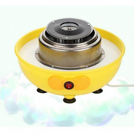 Электрический аппарат для приготовления сахарной ваты MinijoyАппараты для приготовления сладкой ваты<br>Ваши дети большие сладкоежки и постоянно просят купить им какую-нибудь вкусняшку?<br><br><br><br> Приготовить лакомство, не выходя из дома, можно при помощи электрического аппарата для приготовления сахарной ваты Minijoy!<br><br><br><br><br> Аппарат оснащён специальной крышкой, которая служит защитой от брызг, и устойчивыми ножками на присосках, за счёт которых устройство надёжно крепится на любой ровной поверхности и не скользит.В комплект также входят пластиковая ложка и 10 деревянных шпажек.<br><br>Способ применения:<br> <br><br><br><br><br><br> Включите прибор в сеть. Установите чашу на основание прибора. Вставьте дискэкстрактор. Включите прибор. Дайте устройству разогреться в течение 35 минут, затем выключите его. Положите одну мерную ложку сахарного песка в центральное отверстие дискэкстрактора. Включите аппарат. Через 12 минут начнут образовываться тонкие сахарные нити. Приступайте к накручиванию лакомства на деревянные палочки. Выключите прибор, когда весь сахар превратится в сладкую вату.<br><br><br> С электрическим аппаратом для приготовления сахарной ваты Minijoy Вы будете радовать себя и своих детей вкусняшками хоть каждый день!<br><br><br>Комплектация <br><br><br><br>Аппарат для приготовления сахарной ваты - 1 шт.<br><br>Ложка - 1 шт.<br><br>Шпажки обыкновенные - 10 шт.<br><br>Русскоязычная инструкция<br><br>Оригинальная англоязычная упаковка с русской наклейкой со штрих-кодом<br><br><br>Технические характеристики <br><br>Материал: аппарат - пластик, металл, шпажка - дерево, ложка - пластик<br><br>Вес в упаковке: 1,56 кг<br><br>Вес без упаковки: 1,22 кг<br><br>Размер упаковки: 28*28*24 см<br><br>Номинальное напряжение: 220V-240V<br><br>Номинальная мощность: 500W<br><br>Номинальная частота: 50Hz<br><br>