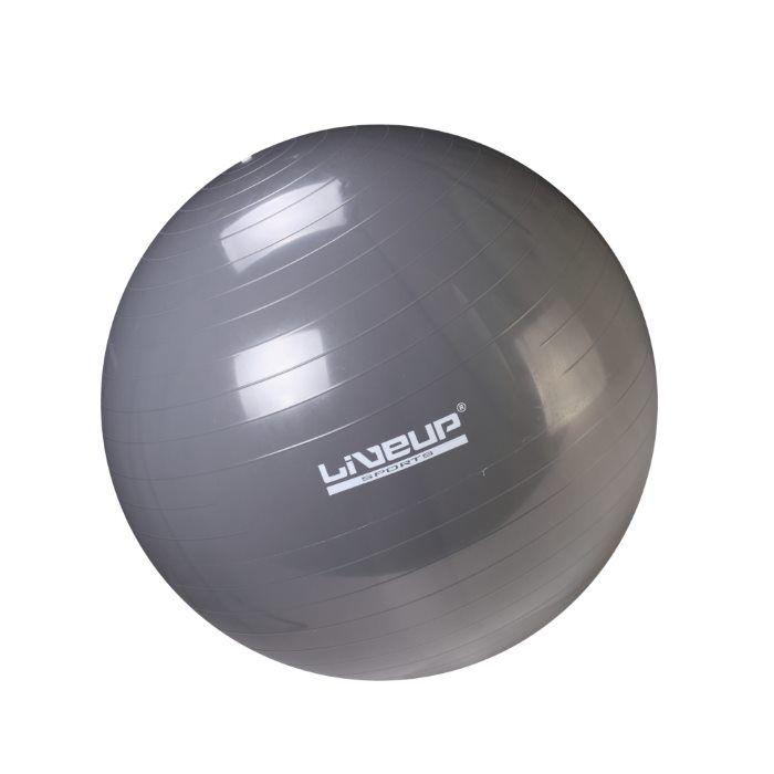 Мяч гимнастический для фитнеса LIVEUP 75 см с насосом, для гимнастики, для укрепления мышц и осанкиФитболы<br>Мяч гимнастический для фитнеса LIVEUP 75 см с насосом<br> <br> <br>  <br> <br> <br>Гимнастический мяч это отличное средство для спортивной и лечебной гимнастики. Мяч изготовлен под контролем качества европейской торговой марки LIVE UP. Подходит для всех возрастных категорий, помогает сформировать правильную осанку, укрепить мышцы корпуса, развить вестибулярный аппарат. Мяч для фитнеса является хорошим дополнением для комплексных тренировок на кардио тренажерах, а также вспомогательным снаряжением для занятий фитнесом и йогой.<br> <br> <br>  <br> <br> <br>На Мяче для гимнастики можно просто сидеть - чудесная альтернативная мебель, снимает нежелательную нагрузку с позвоночника и разгружает суставы. Мяч для фитнеса— полезная вещь для молодых родителей, с помощью него очень удобно укачивать своего малыша и заботиться о фигуре. Мяч может использоваться при массаже новорожденных. Красивый внешний вид и упругая прочная оболочка мячей, вариативность способов применения для различных игр и занятий с детьми делают фитнес-мячи одним из любимых видов спортивно-игрового оборудования. К мячу прилагается насос.<br> <br> <br>  <br> <br> <br>Особенности гимнастического мяча LIVE UP:<br> <br>- Высокая прочность: система «антивзрыв» предотвращает разрыв мяча, делает возможным проводить занятия с мячом в помещении и на улице, а также выдерживать различные нагрузки<br> <br>- Снимает нагрузку: с позвоночника, разгружает суставы<br> <br>- Оздоровительный эффект: применяется в процессе занятий лечебной физкультурой, оздоровительной гимнастикой, реабилитации после травм и операций<br> <br>- Укрепляет: мышечную систему<br> <br>- Корректирует: осанку у взрослых, формирует правильную осанку у детей<br> <br>- Массажный эффект: может использоваться при массажном воздействии (при назначении лечебного или восстановительного массажа для новорожденных)<br> <br>- Улучшает координацию: развива