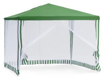 Садовый тент шатер Green Glade 1028Тенты Шатры<br><br> В этом шатре площадью 9 кв. м. комфортно разместится 10 человек.<br><br><br> Традиционный шатер квадратной формы, который будет отлично смотреться на Вашем дачном участке! <br><br><br> Площадь тента Green Glade 1028 – 9 кв.м. Это размер типовой кухни. Значит,  Вы сможете поставить там столик и стулья и наслаждаться обедом на свежем воздухе!  Одна из важных особенностей таких тентов – это их мобильность. Вам необязательно строить беседку, которая будет занимать много места. Достаточно приобрести дачный шатер Green Glade 1028 и Вы сможете устанавливать его по необходимости и с легкостью перемещать по территории участка.<br><br><br><br><br> Шатер 1028 придется Вам по вкусу, если:<br><br><br> • У Вас не очень большой участок<br><br><br> • Вы любите кушать на свежем воздухе<br><br><br> • Не любите жужжащих вокруг насекомых<br><br><br> • Выезжаете с компанией на природу на длительное время<br><br><br> • Вам нужен недорогой шатер от солнца и насекомых, и вы не готовы тратить на него много денег.<br><br><br><br><br> Крыша из плетеного полиэтилена сможет Вас даже защитить от небольшого дождика.<br><br><br> В этом тенте-шатре предусмотрены стенки из москитных сеток, которые на входе можно закрепить по бокам на липучках. Вечером, когда комары особенно активны, Вы по достоинству сможете оценить комфорт тента  Green Glade 1028.<br><br><br><br><br> Часто такие шатры используют как тент над бассейном, чтобы туда не попадал мусор, листва, а также чтобы защититься от солнца, а может даже и дождя. А шатры с москитными сетками еще и прекрасно защитят купальщиков от насекомых.<br> В этом шатре, диаметр вписанной окружности которого 3 м, вы сможете разместить круглый бассейн диаметром не более 2,8 м.<br><br>Характеристики:<br><br><br><br><br> Вес:<br><br><br> 11 кг.<br><br><br><br><br> Все размеры:<br><br><br> 3(Д)х3(Ш)х2,5(В) м. Площадь - 9 кв. м.<br><br><br><br><br> Высота:<br><br><br> 2,5 м.<br><br><br><br><br> Каркас:<br><br><br