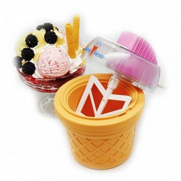 Домашняя мороженица Nice Ice (Найс Айс), приготовление мороженногоМороженицы<br>Домашняя мороженица Nice Ice (Найс Айс)<br> <br> <br>  <br> <br> <br>Все любят мороженое. Это самый популярный десерт, который пользуется одинаковым успехом и у взрослых, и у детей. Ассортимент мороженого поражает воображение и вызывает желание немедленно все попробовать. Однако, несмотря на это сказочное разнообразие вкусов, домашнее мороженое не утратило своего старомодного очарования.<br> <br><br> <br>Домашняя мороженица Найс Айс, позволяет вам сделать ваше любимое мороженое в кратчайшие сроки.<br> <br>Не нужно больше ходить до ближайшего супермаркета или кафе - сделать мороженое самостоятельно теперь очень просто. С Nice Ice нет предела вашим желаниям - хотите ли вы обычное мороженое, сливочное мороженое, фруктовое мороженое или вкусный сорбет. Просто добавьте необходимые ингредиенты, и мороженица сделает все остальное за вас!<br> <br>Вам останется лишь засыпать необходимые ингредиенты в прибор и дождаться когда вкусное и полезное мороженое будет готово.<br> <br>Компактная мороженица Nice Ice не займет много места, а главное она экономно расходует электроэнергию.<br> <br> <br>  <br> <br> <br>Преимущества:<br> <br>- Быстрое приготовление<br> <br>- Всегда свежее мороженое<br> <br>- Создайте собственный вкус<br> <br>- Без добавления красителей и консервантов<br> <br>- Простота использования<br> <br>- Большая чаша 300 мл.<br> <br> <br>  <br> <br> <br>Инструкция по применению:<br> <br>1. Контейнер убирается в морозильную камеру и при t -18 и морозится не меньше 18 часов.<br> <br>2. Через 18 часов можно приступать к приготовлению мороженого. К этому времени приготовьте хорошо охлажденную смесь для мороженого.<br> <br>3. В контейнер установите мешалку. В специальное отверстие вылейте массу. Нажмите кнопку включения и оставьте на 20 минут.<br> <br>4. Готовое мороженое получается густым, по консистенции, как густая сметана. Мороженое готово к употреблению<br> <br>Для стойкой заморозки на пару
