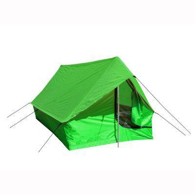 Палатка Prival Турист 2Туристические палатки<br><br> 2-х местная однослойная палатка Prival Турист 2 представляет собой знакомую всем двускатную конструкцию. Такой тип конструкции эргономичен: палатка имеет малый вес и очень легко устанавливается. Область применения палатки - трекинговые походы, велопоходы, выезды выходного дня. Вход в палатку продублирован москитной сеткой. В палатке имеется окно вентиляции. Палатка комплектуется набором шпилек и стойками из алюминиевой трубы диам. 16 мм. Швы палатки проклеены.<br><br><br> ОСОБЕННОСТИ:<br> Антимоскитная сетка<br> Вентиляционное окно<br> Проклеенные швы<br> Водоотталкивающая пропитка<br> Штормовые оттяжки<br> Ремнабор<br><br>Характеристики:<br><br><br><br><br><br><br> Вес:<br><br><br> 1,5 кг.<br><br><br><br><br> Водонепроницаемость:<br><br><br> Тент 3000 мм, дно 5000 мм.<br><br><br><br><br> Все размеры:<br><br><br> 200(Д)x130(Ш)x110(В) см.<br><br><br><br><br> Высота:<br><br><br> 110 см.<br><br><br><br><br> Каркас:<br><br><br> дюралюминий 16 мм.<br><br><br><br><br> Материал пола:<br><br><br> ткань полиэстр Taffeta 210T PU 5000<br><br><br><br><br> Материал внешний:<br><br><br> полиэстр Taffeta 190T PU 3000<br><br><br><br><br> Обработка швов:<br><br><br> проклеенные швы.<br><br><br><br><br> Особенности:<br><br><br> однослойная, двухскатная<br><br><br><br><br> упаковка габариты см:<br><br><br> 65*13*14<br><br><br><br><br>
