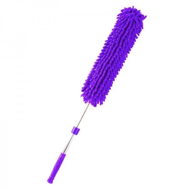 Профессиональная щетка для удаления пыли из микрофибры, цвет фиолетовый, для уборки дома в квартиреЩетки для удаления пыли<br>Профессиональная щетка для удаления пыли из микрофибры, цвет фиолетовый<br> <br>Щетка с насадкой из микрофибры для удаления пыли из труднодоступных мест. Щетка с насадкой из микрофибры обладает защитной функцией, мягкий сменный чехол не царапает поверхность. Сменный чехол подходит для машинной стирки. Форма щетки изготовлена на основании результатов тестирования. Щетка подходит для сухой и влажной уборки, изготовлена из экологически чистых материалов.<br> <br>Преимущества щетки для удаления пыли:<br> <br>- Подходит для любых поверхностей (тканевых, шероховатых, труднодоступных)<br> <br>- Не нужно постоянно смывать ставшую грязью пыль, как это происходит с салфетками<br> <br>- На уборку с дастером уходит гораздо меньше времени<br> <br>- Уборка становится интересной и желанной, сразу появляются желающие помочь<br> <br>Характеристики:<br> <br>Длина: 95 см<br> <br>Материал: микрофибра, металл<br> <br>Купить щетку для удаления пыли<br> <br>Купить щетку для удаления пыли, можно в нашем интернет магазине, мы осуществляем доставку по Москве, Санкт-Петербургу и другим городам и регионам России. Наши операторы всегда будут рады рассказать об особенностях щетки.<br> <br>Для оптовых покупателей<br> <br>Чтобы купить щетку для удаления пыли оптом, необходимо связаться с нашими операторами по телефонам, указанным на сайте. Вы сможете получить значительную скидку от розничной цены в зависимости от объема заказа.<br> <br>Для получения информации о покупке товаров посетите раздел Оптовых продаж.<br>