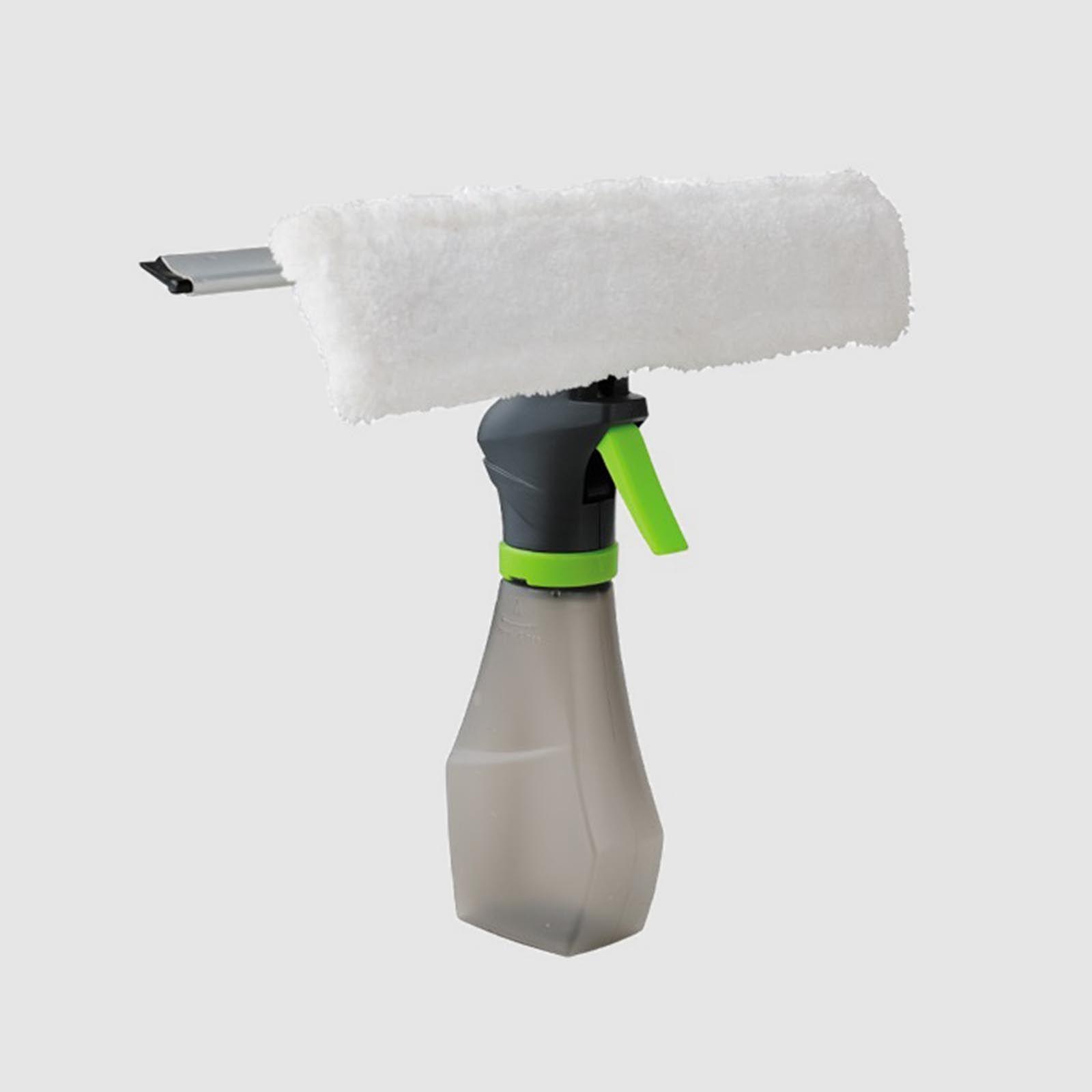 Щетка-водосгон для окон с распылителем Joyclean Water Spraying Window Cleaner (JNW-01)Щетки для мытья<br>Щетка-водосгон для окон с распылителем Joyclean Water Spraying Window Cleaner<br> <br>На что похоже мойка окон? Это тазики с водой, порошком и мылом. Куча тряпок и полотенец для натирания. Даже с применением спиртовых спреев мы долго и нудно убираем грязные потеки. А если надумали мыть окна на зиму или после дождливой весны, то сначала предстоит хорошенько пройтись по всем стеклам с мочалкой и порошком, а уж после смывки грязи еще раз с «Мистер Пропером». И только после этого брать в ручки микрофибру и натирать стекла до кристального блеска.<br> <br>Правда, знакомо? А теперь вспомним, сколько уходит времени – целый выходной день – и нервов… Мы предлагаем тройное решение проблемы одним товаром – это щетка-водосгон для окон с распылителем Super Spray Cleaner!<br> <br>В колбу вы наливаете жидкость для мытья окон или мыльный раствор, распрыскиваете на стекло, тщательно отмываете загрязнения насадкой из микрофибры, а остатки жидкости и потеки сметаете водосгоном к бортикам рамы. За 5 минут у вас чистейшее стекло!<br> <br>Насадка из микрофибры съемная, подлежит ручной и машинной стирке.<br> <br>Характеристики<br> <br> <br>  Материал: пластик, полиэстер, алюминий, резина<br> <br>  Цвет: серый/зеленый<br> <br>  Длина насадки: 27 см<br> <br>  Вес: 300 г<br> <br>