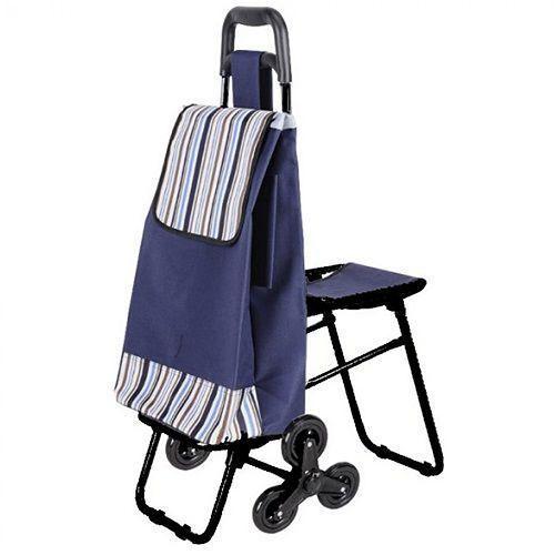 Сумка-тележка хозяйственная C3D на 6 колесах с откидным стулом, для дачи, для перевозки продуктовСумки-тележки<br>Сумка-тележка хозяйственная C3D на 6 колесах с откидным стулом<br> <br> <br>  <br> <br> <br>Современная хозяйственная сумка на колесиках создана для того, чтобы облегчать быт. В них можно перевозить продукты, вещи, любые покупки, не обрывая руки и не утруждая спину. Легкая, удобная, компактная хозяйственная сумка на колесиках. Сумка-тележка сконструирована таким образом, что позволяет легко перевозить вещи, не напрягая спину и руки. Сумка на колесиках еще и очень вместительна – Вы сможете уложить в нее 50 кг своей поклажи. Два трехколесных блока позволяют преодолеть любые препятствия с большим грузом, будь это бордюр, лестница или любое бездорожье.<br> <br> <br>  <br> <br> <br>Хозяйственная сумка-тележка на колесах легко принимает устойчивое положение, и Вы всегда можете опереться на нее, а встроенный стульчик даст Вам возможность присесть отдохнуть в любой момент. Во время дождя специальная водоотталкивающая ткань сумки надежно защитит Ваш груз от намокания. Удобная ручка не выскальзывает и не натирает, она плотно сидит в ладони. Сумка из плотной ткани с поддоном отстегивается от тележки, которую можно использовать отдельно. Сама тележка выполнена из нержавеющей стали.<br> <br> <br>  <br> <br> <br>Преимущества:<br> <br>- Функциональная<br> <br>- Компактные размеры<br> <br>- Легкий вес<br> <br>- Влагонепроницаемая<br> <br>- Прочный материал<br> <br> <br>  <br> <br> <br>Характеристика:<br> <br>Диаметр колеса 10 см.<br> <br>Грузоподъемность 50 кг.<br> <br>Откидной стул (макс.нагрузка 80 кг).<br> <br>Тройные колеса на каждой оси.<br> <br>Материал сумки: хлопок + водоотталкивающая пропитка.<br> <br>Отстегивающаяся сумка<br> <br> <br>  <br> <br> <br>Купить сумку-тележку C3D<br> <br>Купить сумку-тележку на 6 колесах, можно в нашем интернет магазине, мы осуществляем доставку по Москве, Санкт-Петербургу и другим городам и регионам России. Наши операторы всегда б