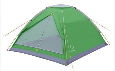 Палатка Greenell Моби 3 V2Туристические палатки<br>Greenell Моби 3 V2 это легкая и компактная однослойная палатка. Вентиляция на крыше под клапаном плюс большое вентиляционное окно напротив входа. В отличие от большинства аналогичных бюджетных палаток, у которых дно из армированного полиэтилена, палатка Моби имеет дно из полиэстера. Идеальна при частой смене лагеря (легко перемещать с места на место, а при необходимости можно закрепить с помощью штормовых оттяжек).<br>Характеристики:<br><br><br><br><br> Вес:<br><br><br> 1,7 кг.<br><br><br><br><br> Водонепроницаемость:<br><br><br> Тент 2000 мм, дно 3000 мм.<br><br><br><br><br> Все размеры:<br><br><br> 200(Д)x180(Ш)x110(В) см.<br><br><br><br><br> Высота:<br><br><br> 110 см.<br><br><br><br><br> Каркас:<br><br><br> фиберглас 7,9 мм.<br><br><br><br><br> Материал пола:<br><br><br> Polyester 190T PU 3000<br><br><br><br><br> Материал внешний:<br><br><br> Polyester 190T PU 2000<br><br><br><br><br> Обработка швов:<br><br><br> проклеенные швы.<br><br><br><br><br> Особенности:<br><br><br> Противомоскитная сетка, состоящая из множества маленьких ячеек, не позволяющих насекомым проникать внутрь палатки.<br><br><br><br><br> упаковка габариты см:<br><br><br> 58*10*10<br><br><br><br><br>