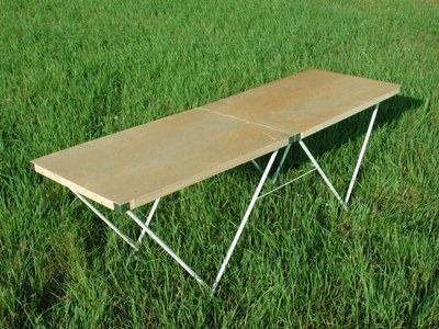 Стол для торговли раскладной 180х60 смКемпинговая мебель<br>Характеристики<br><br><br><br><br> Вес:<br><br><br> 8 кг.<br><br><br><br><br> Все размеры:<br><br><br> 180*60*65 см<br><br><br><br><br> Гарантия:<br><br><br> 2 недели.<br><br><br><br><br> Каркас:<br><br><br> сталь 16 мм.<br><br><br><br><br> Материал:<br><br><br> Столешница изготовлена из фанеры толщиной 3 мм.<br><br><br><br><br> упаковка габариты см:<br><br><br> 90*60*6<br><br><br><br><br>
