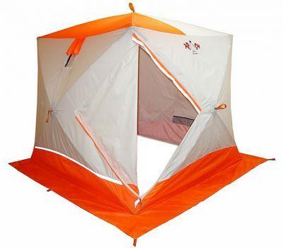 Зимняя палатка Пингвин Призма ПремиумРыболовные палатки<br><br> Зимняя палатка Пингвин Призма Премиум имеет форму куба, что позволяет рыбакам рационально использовать пространство. Сверлить лунки теперь можно прямо в установленной палатке. Габариты ПРИЗМЫ позволяют делать это без каких-либо неудобств. В отличие от классических палаток ПИНГВИН™, палатка ПРИЗМА более ветроустойчива. Благодаря своей конструкции палатка выдерживает порывистый ветер. Легкоставится одним человеком в любую погоду. ПРИЗМА ПРЕМИУМ имеет увеличенные размеры. Теперь в ней могут свободно разместиться четыре человека и комфортно рыбачить как днем, так и ночью! Для удобства сделано два входа. Входы сделаны не по диагонали, как принято на всех импортных аналогах, а напротив друг друга, что позволило оптимизировать внутреннее пространство. Входы выполнены в угловом варианте и снабжены застежкой – липучкой, как на наружном, так и на внутреннем тенте. Так же входы снабжены специальной зимней молнией, которая снаружи имеет защитную планку, предотвращающую от замерзания. Палатка выполнена в светлых тонах и имеет яркую крышу и пороги, а так же светоотражающие элементы по периметру, что позволяет увидеть палатку в ночное время. На наружной юбке имеются оттяжки для крепления порогов при отсутствии снега. Внутреннее пространство тоже стало намного удобнее. Сверху в тенте установлены 2 кармана-сетки для легких вещей, в дополнение к четырем сдвоенным карманам по периметру, 2 форточки, выполненных с применением прозрачной морозостойкой ПВХ-пленки (полностью съёмные). Тент выполнен из ткани Оксфорд 240, которая выдерживает столб воды не менее 2000 мл.<br><br><br> Удобный фирменный чехол позволяет свободно уложить после рыбалки даже обмерзшее укрытие!<br> <br> Обратите внимание, что тент не обладает дышащими свойствами. Для циркуляции воздуха внутри палатки рекомендуем использовать форточки или бегунок на входной двери. Также мы рекомендуем укрепить данную палатку растяжками, независимо от наличия ветра.<br><br