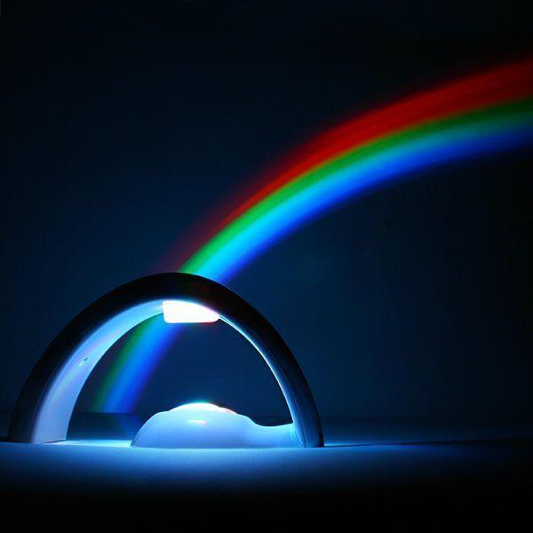 Ночник проектор Радуга Lucky Rainbow ( лаки рейнбоу), детский светильник для детейНеобычные ночники-проекторы<br><br> Увидеть радугу после дождя считается отличной приметой. Все – и взрослые, и дети замирают на мгновенье, когда видят это разноцветное чудо над горизонтом. Говорят, увидеть радугу – на счастье, но теперь это редкое природное явление можно наблюдать у себя дома хоть каждый день! Радуга Lucky Rainbow позволит наслаждаться переливами красок на стене темной ночью или посреди солнечного дня.<br><br><br>  <br><br>В чем особенность проектора?<br><br> Lucky Rainbow – полюбившийся тысячам покупателей проектор. Его можно использовать и как светильник – особенно, если ваш ребенок боится оставаться в своей комнате в темноте. Проектор создает приглушенный мягкий свет и действует успокаивающе на маленького фантазера. Теперь ваш малыш перестанет представлять монстров под кроватью, а начнет мечтать о прогулках по радуге и о поиске сокровищ, которые, по легенде, спрятаны под одним из концов пестрой дуги.<br><br><br> Но спроецировать собственную радугу можно и в дневное время! Используйте проектор для игры или кукольного представления – подарите своему ребенку незабываемое волшебство и приятные эмоции.<br><br><br> Кроме того, светильник – это отличный вариант для недорого и оригинального подарка. Необычная форма позволит проектору органично смотреться в любом интерьере, а два режима работы – статическое свечение и переливы красок - доставят неподдельную радость даже самому серьезному взрослому.<br><br><br>  <br><br>Преимущества<br><br>Эффективность;<br>Практичное применение;<br>Мягкое освещение детской в ночное время;<br>Положительные эмоции;<br>Компактная форма;<br>Оригинальный дизайн;<br>Долговечность;<br>Простота использования;<br>Отличный вариант для подарка на память;<br>Два режима работы;<br>Автономная работа или подключение к розетке;<br>Качественные материалы.<br><br>Как пользоваться проектором?<br><br> Для работы светильника вам понадобятся 4 пальчиковых батаре