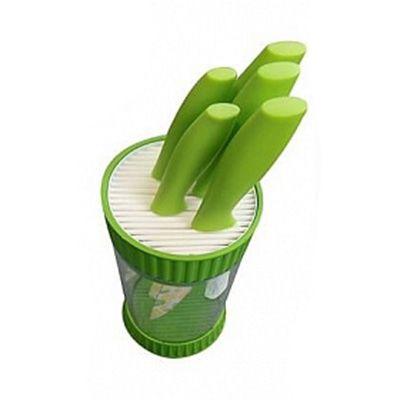 Подставка для ножей (высота 23 см)Товары для кухни<br>Безупречный дизайн и высокие эксплуатационные характеристики подставки для ножей позволят ей занять почетное место на Вашей кухне, а также стать прекрасным подарком! Подставка предназначена для безопасного и гигиеничного хранения острых ножей. Прекрасно подходит для керамических и металлических ножей, а также помогает сохранить их заточку. Подобная конструкционная особенность позволяет существенно продлить срок службы столовых приборов. Изготовлено из полимерных материалов (полистирол, ABS, РЕТ). Размер: диаметр 12 см, высота 23 см.<br><br> <br> <br><br><br>Комплектация:<br><br><br>Подставка - 1 шт. <br> Русскоязычная упаковка с русской наклейкой со штрих-кодом<br><br><br> <br> <br><br><br>Технические характеристики:<br><br><br>Цвет в ассортименте. Выбор конкретных цветов  не предоставляется <br> Материал: полистирол, ABS, РЕТ <br> Вес: 790 гр <br> Диаметр: 12 см <br> Высота: 23 см <br> Размер упаковки: 23,5*13*13 см<br><br>