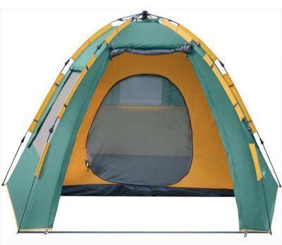 Палатка автомат Greenell Хоут 4V2(95286-303-00)Туристические палатки<br><br> Так быстро кемпинг еще не устанавливался!<br><br><br> <br> Большая палатка для всей семьей Хоут 4. Просторная палатка с большим тамбуром позволяет разместить не одну, а даже две походные кровати! В палатке свободно можно стать в полный рост, вольготно разложить коврики и спальные мешки, организовать полноценные спальные места. Размеры внутреннего пространства палатки Хоут 4 позволяют обеспечить дополнительный комфорт, разместив не только кровать, но и другие элементы кемпинговой мебели, стол или походный стеллаж. Хоут 4 имеет ветровые оттяжки из световозвращающего шнура, что сокращает до минимума возможность случайно зацепиться за них в темное время суток, как шаловливыми детьми, так и охмелевшими от свежего воздуха взрослыми. <br> Не вызывает сомнений, что с такими достоинствами 4-х местная палатка Хоут 4 является идеальным выбором для комфортного семейного на природе!<br><br><br> Высокая кемпинговая палатка с полуавтоматическим каркасом. Установка за 1 минуту. Двухслойная палатка с большим тамбуром. Возможна отдельная установка тента. Легко ставиться одним человеком. Минимум времени для установки и сборки. Q-образный вход продублирован сеткой. Улучшенная сквозная вентиляция. Проклеенные швы. Облегченная регулировка оттяжек со световозвращающей нитью. Москитная сетка. Дополнительные стальные стойки для полога<br><br>Характеристики:<br><br><br><br><br> Вес:<br><br><br> 9.03 кг<br><br><br><br><br> Водонепроницаемость:<br><br><br> 3000 мм.<br><br><br><br><br> Все размеры:<br><br><br> Размеры внешней палатки: 340*280 см; Размеры внутренней палатки: 210*250 см<br><br><br><br><br> Высота:<br><br><br> 185 см.<br><br><br><br><br> Каркас:<br><br><br> Fiberglass 8,5/9,5 мм, автомат.<br><br><br><br><br> Материал внутренний:<br><br><br> Poly Ta?eta190T PU 3000<br><br><br><br><br> Материал пола:<br><br><br> армированный полиэтилен (tarpauling).<br><br><br><br><br> Материал внешний:<br><br><br> Polyeste
