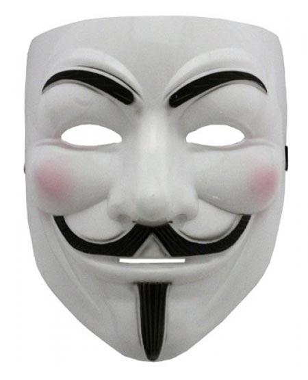 Маска Гая Фокса, маска вендетта, маска анонимус, для праздникаКарнавальные маски<br>Маска Гая Фокса<br><br>Маска Гая Фокса или еще известная как Маска V (Vendetta) создана как символ некого протеста в борьбе за предотвращение коррупции на Западе. Уже впоследствии маска получила большую популярность и узнаваемость во всем мире.<br> <br>Легендарная Маска V олицетворяет полную анонимность своего пользователя, и, зачастую используется при проведении различных демонстраций и митингов.<br> <br>Маска V является одним из популярнейших товаров,с помощью которой, вы с легкостью заинтригуете присутствующих людей, будь то демонстрация или зажигательная вечеринка.<br><br>Купить маски Гая Фокса вы сможете и в подарок своему другу как на День рождение, Новый год, 23 февраля, так и на Halloween. Помогите создать ему тоже свой неповторимый и завораживающий внешний облик, окружив полной завесой тайны, загадочностью и интригой.<br>