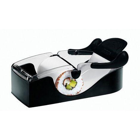 Машинка для приготовления суши Instant Roll, аппарат для ролловНаборы для приготовления суши и роллов<br>Машинка для приготовления суши и роллов Instant Roll<br><br>А вы умеете готовить суши? Или ваши результаты весьма далеки от идеального? Вы стыдитесь поставить на стол свои творения и к приходу гостей покупаете суши в японском ресторане? Не отчаивайтесь! Стоит купить машинку для суши и роллов Instant Roll и поток гостей в вашем доме станет непрерывным. С этим приспособлением вы будете самостоятельно закручивать идеальные роллы одним лишь движением руки. Отзывы хозяек не оставляют сомнений: с Instant Roll даже самый неопытный сушист превратится в настоящего японского шеф-повара.<br><br><br> <br><br>Особенности машинки для суши<br><br>Те, кто хоть раз пробовал приготовить роллы в домашних условиях, знают, что дело это непростое. В своих отзывах молодые хозяйки часто жалуются, что роллы получаются кривые, разного размера и толщины. В особо критических случаях «самоделки» и вовсе разваливаются. Приспособиться к коврику с диковинным названием «суши-мат» не так уж и легко.<br><br><br>Решить проблему помогает машинка для приготовления роллов Instant Roll. Использование этой замечательной помощницы позволяет крутить идеальные рулеты легким движением руки. Дело в том, что практически всю работу машинка делает сама. Достаточно лишь положить в нее лист нори подходящего размера, сверху разместить содержимое и потянуть за край ленты. Буквально через секунду вы увидите идеально ровный ролл.<br><br><br>Немного потренировавшись, вы сумеете производить эти вкусные японские диковинки буквально в промышленных масштабах. Используя машинку для роллов Instant Roll, можно быстро и дешево организовать отличную вечеринку в японском стиле.<br><br><br> <br><br>Как пользоваться приспособлением<br><br>Машинка для приготовления роллов Instant Roll — это не только дешево, но и очень просто. Всего несколько простых действий и роскошное блюдо для праздничного стола готово.<br><br><br>Приготовьте 