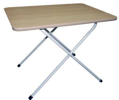 Стол складной 0,75х0,5Кемпинговая мебель<br>Компактный и легкий складной стол, отличающийся лаконичным дизайном, может использоваться в качестве торгового оборудования, имеет столешницу размером 0,75*0,5 метра, изготовленную из ламинированного ДСП и имеющую два положения по высоте: 55 см и 65 см и ножки изготовленные из стальной трубы ? 18 мм.<br>Характеристики<br><br><br><br><br> Вес:<br><br><br> 6 кг.<br><br><br><br><br> Все размеры:<br><br><br> 75*50 см<br><br><br><br><br> Гарантия:<br><br><br> 2 недели.<br><br><br><br><br> Каркас:<br><br><br> стальная труба ? 18 мм.<br><br><br><br><br> Материал:<br><br><br> Ламинированный ДСП<br><br><br><br><br> упаковка габариты см:<br><br><br> 95*50*5<br><br><br><br><br>