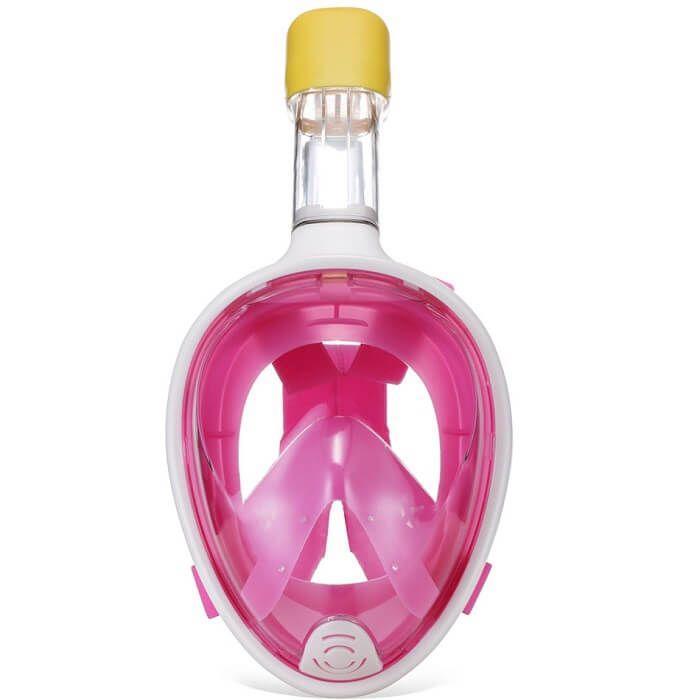 Маска для снорклинга TRIBORD EASYBREATH с заглушками для ушей (розовая, размер L-XL)Маски для снорклинга<br> Маска для снорклинга TRIBORD EASYBREATH с заглушками для ушей (розовая, размер L-XL)<br><br> Название маски переводится как свободное дыхание, что, по сути, отражает прямое назначение этой уникальной маски. Маска предназначается для занятий сноркелингом у поверхности водоема (с 10 лет). Теперь у Вас есть замечательная возможность погружаться глубже в воду для обозрения подводного мира, дашать в маске и не беспокоиться, что в нее попадет вода или маска запотеет. Панорамный обзор морских обитателей и возможность дышать носом делают маску для сноркелинга TRIBORD EASYBREATH просто незаменимой для комфортного и увлекательного погружения.<br><br><br><br><br>Особенности маски для снорклинга TRIBORD EASYBREATH: <br><br><br><br>Можно свободно дышать под водой - полноценное дыхание носом и/или ртом<br>Система защиты от проникновения воды - система Dry Top предотвращает попадание воды через верх трубки<br>Система защиты от запотевания - эксклюзивная концепция циркуляции воздуха предупреждает запотевание<br>Возможность крепления камеры GO PRO<br>Панорамный обзор - поле зрения приблизительно 180°<br>Никакого дискомфорта при использовании маски - эластичный регулируемый текстильный ремешок для бережного отношения к волосам<br>Отвод воды из маски - клапан, расположенный в нижней части маски, позволяет удалять попавшую воду<br>Удобство размера маски - обтюратор из силикона для комфорта и герметичности, на выбор 2 размера (S/M, L/XL)<br><br><br><br>Эксклюзивная технология антизапотевания!<br><br> Оптимально функционирует при температуре воды от 18°C, ведь вдыхаемый прохладный воздух попадает сначала на стекло, а уже потом в нос или рот. Влажный воздух, который Вы выдыхаете, отводится по боковым пластиковым, а затем по силиконовым желобам, через которые воздух попадает в трубку. Таким образом, воздух внутри маски постоянно обновляется. <br><br><br><br>Блокировка попадания воды