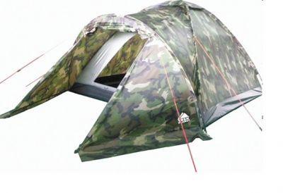 Палатка Trek Planet Forester 4 (70137)Туристические палатки<br><br> Палатка Trek Planet Forester 4 (70137) это бестселлер в бюджетном сегменте. Классическая, однослойная палатка  с тамбуром для вещей в камуфляжном исполнении. Рекомендуется для коротких выездов на природу или в качестве фестивальной палатки.<br><br><br> Особенности:<br><br><br> - Легко и быстро устанавливается<br><br><br> - Вместительный и защищенный от непогоды тамбур <br><br><br> - Все швы проклеены<br><br><br> - Вентиляционное окно сверху палатки не дает скапливаться конденсату на стенках палатки<br><br><br> - Москитная сетка на входе в спальное отделение в полный размер двери<br><br><br> - Внутренние карманы для мелочей<br><br><br> - Возможность подвески фонаря в палатке<br><br><br> - Чехол с двумя ручкам на молнии для транспортировки и хранения<br><br>Характеристики:<br><br><br><br><br><br><br> Вес:<br><br><br> 3,5 кг.<br><br><br><br><br> Водонепроницаемость:<br><br><br> 1000 мм.<br><br><br><br><br> Все размеры:<br><br><br> 210+120(Д)x240(Ш)x130(В) см.<br><br><br><br><br> Высота:<br><br><br> 130 см, внутренняя палатка 120 см.<br><br><br><br><br> Каркас:<br><br><br> фиберглас 8,5 мм.<br><br><br><br><br> Материал:<br><br><br> 100% полиэстер с пропиткой PU<br><br><br><br><br> Материал пола:<br><br><br> армированный полиэтилен (tarpauling).<br><br><br><br><br> Обработка швов:<br><br><br> Все швы проклеены.<br><br><br><br><br> Особенности:<br><br><br> Возможность подвески фонаря в палатке.<br><br><br><br><br> упаковка габариты см:<br><br><br> 65*13*13<br><br><br><br><br>
