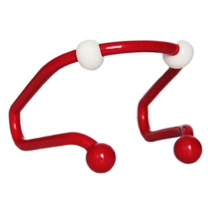 Изогнутый механический массажер для шеиМассажеры для шеи и плеч<br>Как снять напряжение в мышцах шеи после тяжёлого трудового дня?<br><br><br><br> Сделайте себе массаж с помощью изогнутого механического массажера для шеи!<br><br><br><br><br> Механический массажёр выполнен в изогнутой форме, имеет две удобные ручки и 4 круглых массажных элемент: 2 в верхней части и 2 в нижней части массажёра. Во время сеанса массажа ролики массажера слегка захватывают кожу, очень бережно и аккуратно оттягивая её. Это обеспечивает приток крови к проблемным зонам, усиливая обменные процессы в труднодоступных слоях эпидермиса. Вы можете самостоятельно регулировать силу нажатия и время сеанса массажа. <br><br> <br><br>Преимущества массажёра<br><br>Надёжная фиксация<br>Удобные ручки<br><br>Способ применения<br><br> Используйте массажёр для массажа шеи. <br><br><br> Изогнутый механический массажер для шеи – приятный и эффективный массаж своими руками!<br><br>Характеристики<br><br>Цвет: красный с белым<br><br>Материал: пластик<br><br>Вес в упаковке: 170 гр.<br><br>Комплектация<br><br>Массажёр - 1 шт.<br><br>Оригинальная японская упаковка с русской наклейкой со штрих-кодом<br><br><br> <br>