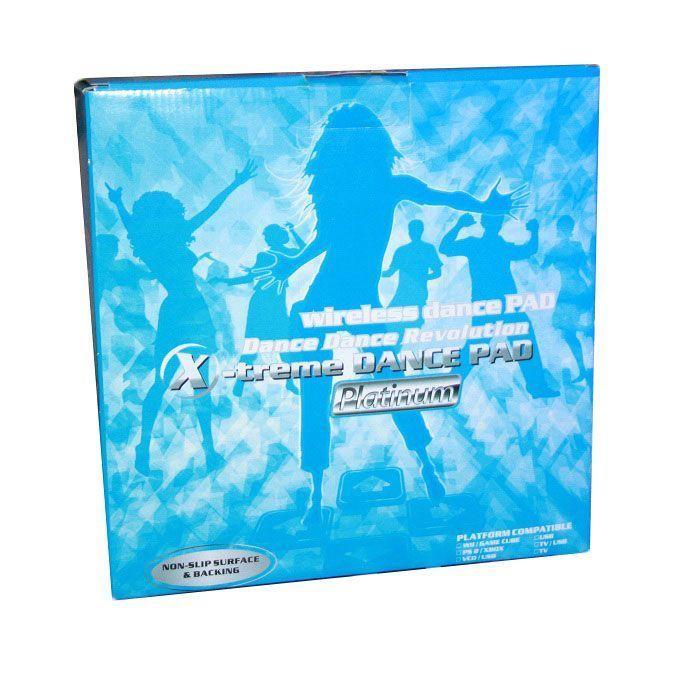 Беспроводной танцевальный коврик X-treme Dance Pad Platinum (Stepmania Coilmix)Танцевальные коврики<br>Уникальное изобретение, которое комбинирует в себе множество игр и несколько сотен мелодий, под которые можно танцевать до упаду.  Веселитесь от души! Отличительные особенности: - Яркий принт с размеченными полями - Подключение к телевизору или компьютеру - Блок приема сигнала для беспроводного подключения в комплекте - 2 геймпада в комплекте - 2 функции: танцевальный и игральный коврик - Графика: 32-битная<br>Характеристики:<br><br><br><br><br> Категория качества<br><br><br> Standard*<br><br><br><br><br> Материал<br><br><br> Цвет: в ассортименте. Выбор конкретных цветов и моделей не предоставляется. Материал: PVC+EVA Вес в упаковке: 970 гр. Размер упаковки: 31*30,5*10 см 28 игр в комплекте 180 мелодий в комплекте<br><br><br><br><br> Комплектация<br><br><br> Беспроводной танцевальный коврик - 1 шт. Блок приема сигнала (для беспроводного соединения с ТВ и ПК) - 1 шт. Геймпад - 2 шт. AV шнур - 1 шт. Шнур питания - 1 шт. USB-шнур - 1 шт.<br><br><br><br><br>
