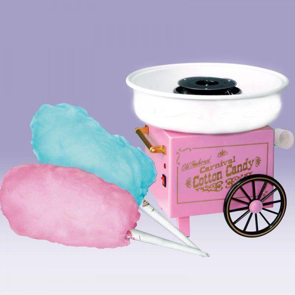 Аппарат для приготовления сахарной ваты дома Carnival Cotton Candy Maker (Коттон Кэнди) для изготовления сладкой ватыАппараты для приготовления сладкой ваты<br><br> Carnival Cotton Candy Maker – это именно то устройство, которое будет радовать не только Вас, но и ваших детей сладкой ватой. Её вы можете сделать в абсолютно любое время, на своей кухне в доме или где-либо ещё. Приобретая такой аппрат, вы всегда сможете украсить праздник вашего ребенка или порадовать ваших друзей вкусной сладкой ватой.<br><br>Особенности аппарата<br><br> <br><br><br> Применяя аппарат, Вы несомненно сэкономите на этом лакомстве неплохую сумму денег! Среднестатистическая порция сладкой ваты стоит приблизительно 100-110 рублей, в то время порция домашней сладкой ваты обойдется вам всего в 10 рублей. Экономия видна невооруженным глазом.<br><br><br>  Смотрите также - Аппарат для приготовления сладкой ваты Cotton Candy Maker<br><br>8 причин купить аппарат<br><br>  <br><br><br>Экономия денег. Сахарная вата обойдется вам в 10 раз дешевле!<br>Устойчивость. Благодаря присоскам, аппарат надежно крепится к ровной поверхности. У вас деревянный стол или гранитная столешница? Разницы нет, присоски удержат его на месте.<br>Занимает мало места, поместится в любой шкаф.<br>Не разбрызгивает карамель. Наличие защитного экрана предотвращает разбрызгивание. На Вашей кухне будет чисто!<br>Можно использовать любой сахар.<br>Прост в эксплуатации. С аппаратом справится даже ребенок.<br>Быстро приготовит сахарную вату. С момента включения аппарата до готовой ваты понадобится менее 10 минут.<br>Низкая цена! Аппарат стоит как 15 порций сладкой ваты в магазине.<br><br>Как приготовить сахарную вату за 10 минут<br><br> Шаг 1. Перед применением, аппарат необходимо промыть и высушить.<br><br><br> Шаг 2. Собираем прибор согласно инструкции.<br><br><br> Шаг 3. Подключаем к розетке и прогреваем пару минут.<br><br><br> Шаг 4. Выключаем и засыпаем сахар мерной ложкой в отсек. Равномерно распределяем сахар в воронке, чтобы не