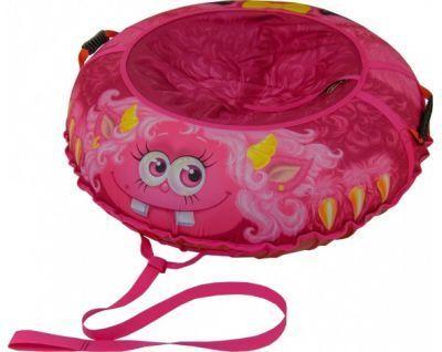 Тюбинг Монстрик Пинки 110 смСанки ватрушки, тюбин<br><br> От такого супер тюбинга с симпатичным монстриком будут в восторге и взрослые и дети!<br> Ограниченная серия с эксклюзивным дизайном.<br> Успейте порадовать своего ребенка!<br><br><br> Материал верха и сиденья: прочная синтетическая ткань Оксфорд 600D PU 2000 плотностью 250 г м2.<br><br><br> Материал дна: прочная армированная тентовая ткань с глянцевым скользящим ПВХ покрытием плотностью 630 г м2.<br> Размер камеры: R14 для тюбингов диаметром 95 сантиметров, и R15 для тюбингов диаметром 105 см.<br> Ручки: эргономичные пластиковые со стропой.<br> Застежка на сидении: прочная молния N 10.<br> Нитки: прочные армированные лавсановые, не подвержены гниению. <br> Тип нанесения изображения на верх и сиденье: высококачественная, износостойкая, экологичная сублимационная печать, устойчивая к воздействию внешней среды.<br><br><br>Нанесение изображения на тюбинги методом сублимации<br><br> Суть этой технологии состоит в том, что при помощи широкоформатного плоттера изображение печатается на специальную бумагу чернилами на водной основе, затем оно переносится на синтетическую ткань при помощи каландера при высокой температуре.<br><br><br> Сублимация имеет целый ряд значительных преимуществ перед стандартными методами нанесения изображения или надписи:<br><br><br><br><br>Насыщенность изображения.<br>Возможность нанесения на ткань фотографического изображения высокого качества.<br>Экологически чистый способ печати.<br>Устойчивость изображения к истиранию.<br>Устойчивость изображения к изменению внешней среды.<br><br><br> Сублимационная печать считается одним из лучших методов печати на ткани. Нанесенное изображение получается ярким, высококачественным, износостойким и долговечным!<br><br><br> Подарите детям незабываемые впечатления!<br><br>Характеристики<br><br><br><br><br> Вес:<br><br><br> с камерой 2,2 кг.<br><br><br><br><br> Все размеры:<br><br><br> ? 110 см.<br><br><br><br><br> Материал:<br><br><br> Материал верха - про