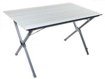 Стол складной TREK PLANET Roll-up Alu table 120 (TA-570)Кемпинговая мебель<br><br> Стол складной TREK PLANET Roll-up Alu table 120 со столешницей из наборного алюминия предназначен для использования на природе, дома, охоте, рыбалке. Можно использовать как дачный столик, устанавливая его внутри и снаружи помещений. Позволяет вмещать компанию до 8 человек. Благодаря продуманной конструкции выполненной из алюминия стол получился легким. <br><br><br> - Столешница из наборного алюминия<br> - Компактно скручивается в рулон<br> - Одна ножка регулируется, что позволяет поставить стол на неровной поверхности<br> - Складывается в футляр из прочного материала с лямкой для переноски<br> - В сложенном состоянии занимает мало места<br><br><br><br><br> Бренд TREK PLANET прекрасно зарекомендовал себя на рынке, предлагая широкий ассортимент товаров для туризма и отдыха отличного качества.<br><br>Характеристики<br><br><br><br><br> Вес:<br><br><br> 7,78 кг.<br><br><br><br><br> Все размеры:<br><br><br> 119*71*70 см.<br><br><br><br><br> Гарантия:<br><br><br> 6 месяцев.<br><br><br><br><br> Каркас:<br><br><br> алюминий 25 мм с матовым покрытием<br><br><br><br><br> Материал:<br><br><br> Столешница: наборный алюминий с матовым покрытием<br><br><br><br><br> Особенности:<br><br><br> Одна ножка регулируется, что позволяет использовать стол на неровной поверхности.Нагрузка 30 кг<br><br><br><br><br> упаковка габариты см:<br><br><br> 120*22*13<br><br><br><br><br>
