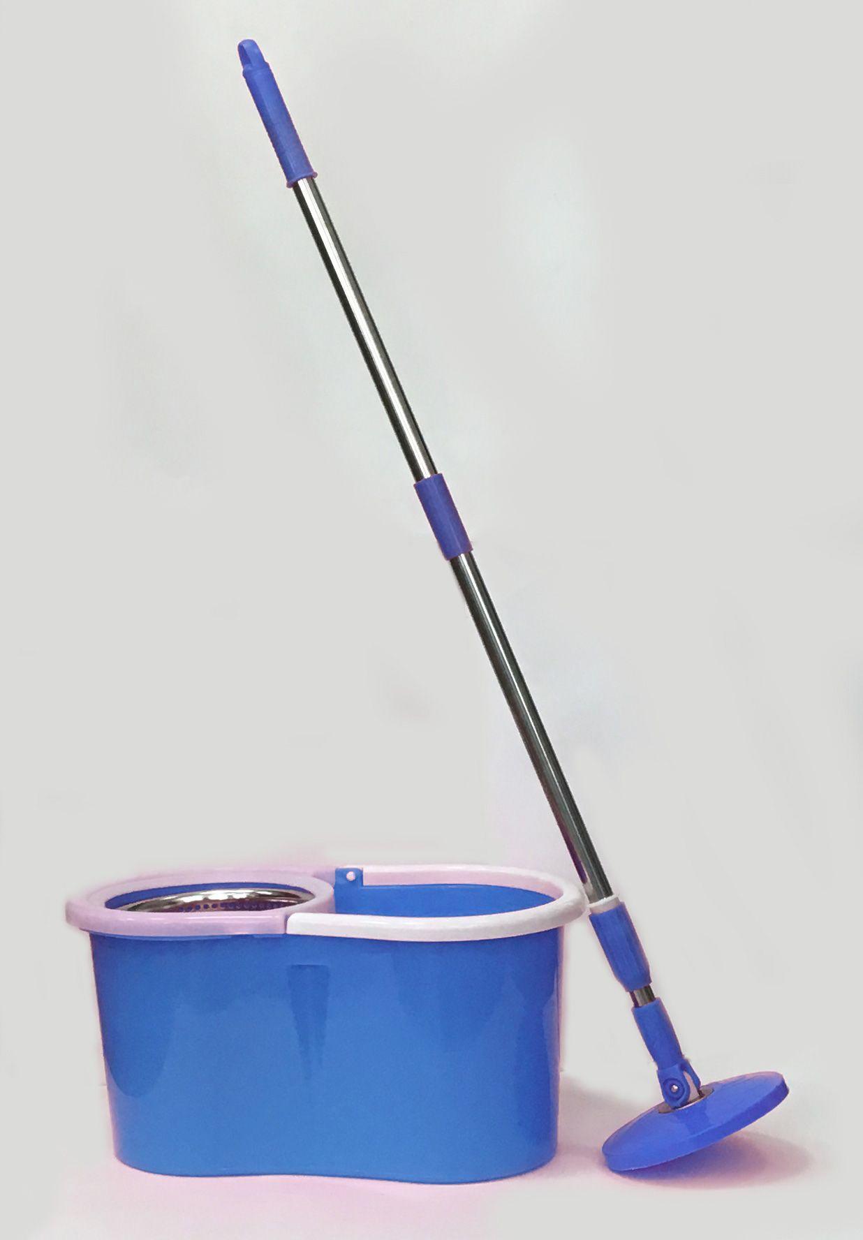 Универсальная швабра с  отжимом Спин энд Гоу 2 (Spin and Go 2, стальная центрифуга) цвет синийШвабры с отжимом<br> Универсальная швабра с отжимом Спин энд Гоу 2 (Spin and Go 2, стальная центрифуга) синяя<br><br> Как вы считаете, можно ли помыть пол у себя дома буквально за несколько минут, даже не запачкав руки? Конечно, можно, - если вы решите купить швабру с ведром и отжимом Спин энд Гоу 2. Это – чудо-приспособление, которое позволяет быстро и качественно помыть пол, кафельную плитку, стекла, кузов машины и другие плоскости без разводов и луж. Удобная раскладная рукоять, моющая часть из микрофибры на шарнире и ведро с отделением для отжима – все это швабра Spin and Go 2, самый популярный на отечественном рынке и недорогой девайс для поддержания порядка в вашем доме.<br><br><br>  Смотрите также - Другие модели швабр с отжимом<br><br>Легкая и непринужденная уборка – это возможно!<br><br> Теперь вам не нужно кланяться немытому полу, окунать руки по локоть в грязную воду и браться за половую тряпку. Все самые неприятные действия за вас выполнит универсальная швабра для мытья пола с отжимом Spin and Go 2:<br><br>  <br><br>Легкую рукоять можно настроить под свой рост или под определенные работы.<br>Круглая насадка из практичной микрофибры сделает уборку максимально эффективной – этот современный чудо-материал моментально впитывает воду, удаляет любые загрязнения, даже если вы будете мыть пол простой водой, без моющих веществ.<br>После уборки вы просто отстегиваете насадку, стираете ее в стиральной машине и сушите. После этих нехитрых манипуляций ваша швабра снова станет выглядеть, как только что из магазина!<br>Ведро со специальным отсеком для отжима – практичное и действенное усовершенствование. Вы самостоятельно регулируете интенсивность отжима микрофибры – от влажной до почти сухой. И никакого вреда вашим ладоням и ногтям! <br>Кроме того, конструкция швабры для мытья пола с отжимом Spin and Go 2 обеспечит вам доступ к углам и пола под мебелью.<br><br><br> Хозяюшки, к