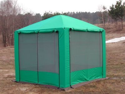 Тент туристический Пикник 2,5х2,5 со стенкамиТенты Шатры<br><br> В этом шатре площадью 6,25 кв. м. комфортно разместится 5-7 человек.<br><br><br> Удобный сборно-разборный шатер-тент с противомоскитными сетками предназначен для защиты от солнца, насекомых и неблагоприятной погоды, поэтому с успехом используется на отдыхе в природных условиях. Прочный каркас шатра изготовлен из стали, поэтому вся конструкция устойчива к ветру. Все части каркаса надежно фиксируются между собой. Тент сшит из ткани, пропитанной специальным водоотталкивающим средством (водоотталкивающая пропитка 2000 мм. водного столба). Все швы проклеены. Поэтому тент прекрасно защищает от дождя. Стропы с пряжками, а также молнии помогают хорошо натянуть тент. При необходимости можно поднять все стенки и зафиксировать.<br><br><br> Тент с четырехскатной крышей предназначен для коллективного отдыха на природе, для отдыха на дачном участке, может также использоваться в качестве летней кухни.<br> Часто такие шатры используют как тент над бассейном, чтобы туда не попадал мусор, листва, а также чтобы защититься от солнца, а может даже и дождя. А шатры с москитными сетками еще и прекрасно защитят купальщиков от насекомых.<br><br><br> Чтобы внутри шатра было всегда чисто, вы можете приобрести отдельно пол для этого шатра.<br><br><br> Не забудьте купить комплект колышков , чтобы хорошо растянуть Ваш шатер и сделать его еще более крепким и ветроустойчивым.<br><br>Характеристики:<br><br><br><br><br> упаковка габариты 2 место см:<br><br><br> 50*40*18<br><br><br><br><br> Вес:<br><br><br> 30 кг.<br><br><br><br><br> Водонепроницаемость:<br><br><br> 2000 мм.<br><br><br><br><br> Все размеры:<br><br><br> 2,5(Д)х2,5(Ш)х2,64(В) м. Площадь - 6,25 кв.м.<br><br><br><br><br> Высота:<br><br><br> 1,92 м. В коньке 2,64 м.<br><br><br><br><br> Каркас:<br><br><br> Стальная труба 18 мм / 22 мм покрытая порошковой краской, угловые соединения каркаса стальная труба увеличенной толщины.<br><br><br><br><br> Материал:<br><br><br> Тент Oxfo