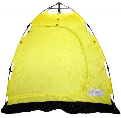 Палатка для зимней рыбалки п/автомат SWD Polar Bear-2 (8620046)Рыболовные палатки<br><br> Палатка для зимней рыбалки п/автомат SWD Polar Bear-2 (8620046) выпускается в желто-белом цветовом исполнении, юбка черного цвета. Быстро разбирается и собирается на льду. Комплектуется 2-мя внутренними карманами для хранения принадлежностей, имеет съемное вентиляционное окно из ПВХ со шторкой на липучке, крючком для лампы, штормовыми оттяжками и ветрозащитной юбкой шириной 20см. 20мм отверстия в юбке под ввертыши усилены металлическими люверсами.<br><br><br> Просторная, легкая светлая. Модель 2014 года. <br><br><br> Благодаря удобному механизму установка и сборка палатки занимают меньше минуты.<br><br><br><br><br>Особенности<br><br> 1. 4 люверса по углам юбки<br><br><br> 2. наружная юбка шириной 10 см.<br><br><br> 3. Колышки и растяжки в комплекте<br><br><br> 4. большое окно на молнии<br><br><br> 5. пластиковый крюк для лампы под потолком<br><br><br> 6. вентиляционное отверстие с планкой над входом<br><br><br> 7. Один двойной карман для мелочей<br><br>Характеристики<br><br><br><br><br> Вес:<br><br><br> 2.7 кг<br><br><br><br><br> Водонепроницаемость:<br><br><br> 2000 мм.<br><br><br><br><br> Все размеры:<br><br><br> 200*200 см.<br><br><br><br><br> Высота:<br><br><br> 165 см.<br><br><br><br><br> Гарантия:<br><br><br> 1 мес.<br><br><br><br><br> Каркас:<br><br><br> стеклопластик<br><br><br><br><br> Материал:<br><br><br> полиэстер 210D<br><br><br><br><br> Особенности:<br><br><br> Наружний каркас, съемное вентиляционное окно из ПВХ со шторкой на липучке<br><br><br><br><br> Площадь:<br><br><br> 4 кв.м.<br><br><br><br><br> упаковка габариты см:<br><br><br> 85*15*15<br><br><br><br><br>