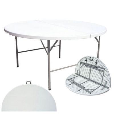 Стол-чемодан складной F160Кемпинговая мебель<br>Очень большой круглый стол складной F160 идеально подойдет для использования на даче в качестве обеденного для большой компании, а возможность сложить его пополам позволит убрать его на зиму в подсобные помещения.<br>Характеристики<br><br><br><br><br> Max вес пользователя:<br><br><br> мкс нагрузка 40 кг.<br><br><br><br><br> Вес:<br><br><br> 21 кг (без транца).<br><br><br><br><br> Все размеры:<br><br><br> 160*160*74 см<br><br><br><br><br> Высота:<br><br><br> 74 см<br><br><br><br><br> Каркас:<br><br><br> стальная труба ? 28 мм<br><br><br><br><br> Материал:<br><br><br> пластик HDPE (4,5 см)<br><br><br><br><br> упаковка габариты см:<br><br><br> 160*80*10<br><br><br><br><br>
