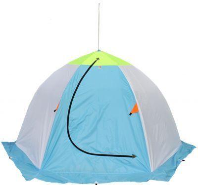 Палатка для зимней рыбалки Медведь 3 трехслойнаяРыболовные палатки<br><br> Собираясь на подлёдную рыбалку, не забудьте позаботиться о надежной зимней палатке!<br><br><br> Ведь вам наверняка хочется отдохнуть от трудовых будней или просто насладиться процессом ловли рыбы в максимально комфортных условиях, а не трястись от холода на пронизывающем ветру, подрывая своё здоровье.<br><br><br><br><br> Одним из важных критериев, на которые нужно обратить внимание при выборе палатки, является её температурный режим.<br><br><br><br><br> Предлагаем Вам обратить внимание на палатку для зимней рыбалки Медведь 3 трехслойная (термостежка).<br> Эта палатка типа «зонт» имеет прочный шестилучевой каркас и устанавливается буквально за минуту.<br><br><br><br><br> Её отличительной особенностью является трёхслойная конструкция материала. Верхний слой представляет собой непродуваемую ткань Oxford 210D со вставкой сверху из дышащей ткани Грета, а 2 и 3 слои образуют стеганое полотно (термостежка). Такая зимняя трехслойная палатка отлично подойдет для использования даже при очень низких температурах. Мороз и ледяной ветер Вам будут не страшны!<br><br><br><br><br> Хорошую ветронепроницаемость также обеспечит сплошная юбка шириной 20 см, для этого её необходимо присыпать сверху снегом.<br><br><br><br><br> Для лучшей устойчивости зимняя трехслойная палатка оборудована петлями для оттяжек на стенках, а на каждой грани юбки есть петли для ввёртышей (обратите внимание, оттяжки и ввертыши в комплект не входят!)<br><br><br><br><br> Помимо того, что из-за использования дышащих материалов палатка обладает хорошим воздухообменом, вентиляция также осуществляется с помощью окошка на молнии. А значит, в палатку всегда будет поступать свежий воздух!<br><br><br><br><br> Особенности палатки Медведь 3 трехслойная:<br><br><br><br><br>Трёхслойный материал<br>Широкая юбка<br>Окошко для вентиляции<br>4 кармашка внутри<br>Двойной шов плюс оверлок<br>Каркас и все соединения изготовлены из алюминия<br><br><br><br><