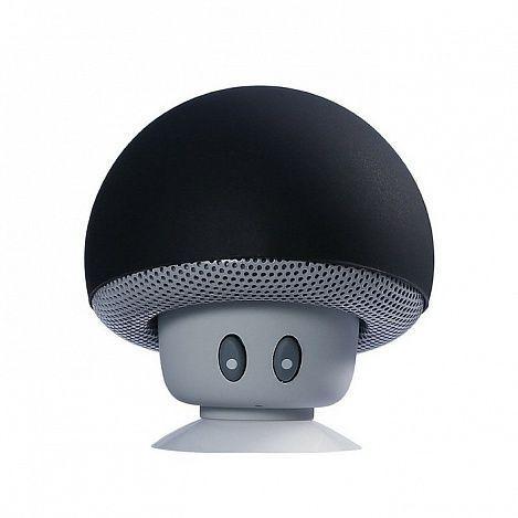 Беспроводная Bluetooth колонка в виде гриба (черная)Аксессуары для смартфонов<br>Хотите наслаждаться любимой музыкой всегда и везде?<br><br><br>С беспроводной Bluetooth колонкой в виде гриба Вы с ней не расстанетесь!<br><br><br> <br><br><br><br>Музыкальная колонка представляет собой миниатюрный гаджет, выполненный в форме грибочка с глазками. Для работы достаточно подключить Bluetooth. А при помощи присоски Вы можете зафиксировать колонку на любой плоской поверхности. Таой компактный гаджет удобно брать с собой везде, где Вы хотите насладиться качественным звуком любимых композиций. Колонка может работать непрерывно до 2,5 часов.<br><br><br> <br> <br><br><br>Компактный гаджет для тех, кто ни на минуту не хочет расставаться с музыкой. Забавная колонка в виде грибочка наполнит музыкой любое место. <br><br><br>Будьте с музыкой всегда! <br> <br><br>Отличительные особенности:<br><br>- Дизайн в виде грибочка с глазками <br> - Работа через Bluetooth <br> - Присоска для крепления <br> - 2,5 часа непрерывной работы  <br> - Компактный размер<br><br><br> <br> <br><br>Способ применения:<br><br> <br> <br><br><br>Подключите колонку к Вашему гаджету при помощи Bluetooth.<br><br><br> <br><br><br><br><br>Беспроводная Bluetooth колонка в виде гриба - чистый звук и компактность в одном устройстве!<br><br> <br> <br><br><br>Комплектация:<br><br><br>Колонка - 1 шт. <br> USB-кабель - 1 шт. <br> Оригинальная англоязычная упаковка с русской наклейкой со штрих-кодом<br><br><br> <br> <br><br><br>Технические характеристики:<br><br><br>Цвет: чёрный с серым <br> Рабочее время: 2,5 ч. <br> Версия Bluetooth: Bluetooth 3.0<br><br> <br>