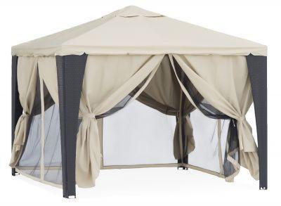 Садовый тент шатер Green Glade 3176Тенты Шатры<br><br> В этом шатре площадью 9 кв. м. комфортно разместится 10 человек.<br><br><br> Кто сказал, что у Вас должен быть тент как и у всех? Иногда хочется и выделиться :). Легче всего это сделать с тентом шатром Green Glade YF-3176B. Этот прекрасный тент изготовлен под нынче модный ротанг. Темный искусственный ротанг великолепно сочетается с белым куполом шатра. Такая игра цветов создает великолепный эффект - тент шатер YF-3176B смотрится необыкновенно выигрышно. Кроме того он обладает отменными характеристиками. Все это делает тент шатер желанной покупкой у тех людей, кто привык покупать красивые и полезные и качественные вещи. <br><br><br> <br> Создайте зону особого уюта прямо на дачном или садовом участке. С помощью тента шатра YF-3176B вы сможете с комфортом проводить различные мероприятия и торжества прямо на открытом воздухе – не зависимо от капризов природы. С тентом шатром Green Glade YF-3176B Вам не придется изучать прогнозы погоды – праздник состоится при любой погоде. <br> <br> Этот стильный и прочный шатер надежно защищает от яркого солнца и дождя. Он имеет двойную вентиляцию отличную устойчивость. Используйте его везде – на пикниках, рыбалке, кемпинге. Такой красивый шатер вполне можно использовать, в качестве торгового или выставочного шатра-павильона. <br> <br> Тент шатер Green Glade YF-3176B станет великолепный украшением, любого места, где бы вы его не использовали.<br><br> Особенности использования<br> Тент шатер Green Glade YF-3176B имеет прочный металлический каркас из металлических труб, поперечной балки и восьми столбов (20x20мм труба, 20x20мм поперечная балка, 10x20мм столб). Крыша и стенки тента выполнены из прочного полиэстера с покрытием из водостойкого поливинилхлорида плотностью 250гр/м.кв. Покрытие столбов - полиротанг. Размеры шатра 300х300 см, высота 250 cм. <br> <br> Основные преимущества тента шатра Green Glade YF-3176B :<br><br>Обеспечивает комфортные условия для отдыха на природе<br>Неве