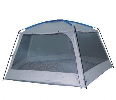 Тент High Peak Pavillon Fasano 14048Тенты Шатры<br><br> В этом шатре площадью 12,3 кв. м. комфортно разместится 14 человек.<br><br><br> Серый с синими вставками тент – шатер High Peak Fasano прекрасно подойдет вам для проведения пикника, или праздника на природе. Он прекрасно защитит от солнечных лучей и дождя, а также от надоедливых насекомых. Так как шатер имеет большие размеры, туда может поместиться обеденный стол, и даже, при желании второй стол. Т.е. внутри него можно оборудовать и столовую, и кухню. Благодаря своей устойчивой конструкции (пятигранник из фибергласовых и стальных дуг), он достаточно ветроустойчив. Тент шатра выполнен из полиэстера и обработан полиуретановой пропиткой. Рассчитан на небольшой дождь. Для защиты от насекомых, оснащен москитными сетками и глухими стенками.<br><br><br><br><br> Часто такие шатры используют как тент над бассейном, чтобы туда не попадал мусор, листва, а также чтобы защититься от солнца, а может даже и дождя. А шатры с москитными сетками еще и прекрасно защитят купальщиков от насекомых.<br> В этом шатре, диаметр вписанной окружности которого 3,7 м, вы сможете разместить круглый бассейн диаметром не более 3,3 м.<br><br>Характеристики:<br><br><br><br><br><br><br> Вес:<br><br><br> 7,8 кг.<br><br><br><br><br> Водонепроницаемость:<br><br><br> 1000 мм.<br><br><br><br><br> Все размеры:<br><br><br> 4,55(Д)х4,32(Ш)х2,1(В) м. Площадь - 12,3 кв. м.<br><br><br><br><br> Высота:<br><br><br> 2,1 м.<br><br><br><br><br> Каркас:<br><br><br> сталь 19 мм, стекловолокно 11 мм.<br><br><br><br><br> Материал:<br><br><br> полиэстер, полиуретановая пропитка.<br><br><br><br><br> Обработка швов:<br><br><br> швы крыши проклеены.<br><br><br><br><br> Особенности:<br><br><br> шатер пятигранник с москитными сетками и ветро-водо-защитными полотнами на всех стенках. Один вход.<br><br><br><br><br> упаковка габариты см:<br><br><br> 64*24*24<br><br><br><br><br> Цветовое исполнение:<br><br><br> серый с синими вставками.<br><br><br><br><br>