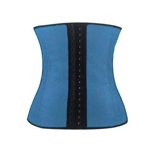 Корсет Sculpting Clothes (Waist Trainer) Синий L-XLКорсеты для похудения<br><br> Воплощайте в жизнь свои мечты о тонкой талии вместе с нами! Здесь вы можете приобрести недорогой, но очень эффективный и популярный корсет Sculpting Clothes. Удобный корсет из латекса с тремя рядами крючков, гармонично сочетающийся с нижним бельем – идеальный подарок для себя, любимой. Торопитесь сделать заказ по самой привлекательной цене и удивляйте окружающих соблазнительной, подтянутой фигурой. <br><br><br> <br><br>В чем секрет популярности?<br><br> Стоит только одеть этот корсет – и потрясающий визуальный эффект вам обеспечен.  Во время носки корсета активизируется мышечная память и ваше тело, даже без принуждения, будет самопроизвольно держать спину ровно, а живот – втянутым.<br><br><br> Кроме того, корсет способен в разы увеличить эффективность и результативность тренировок или занятий фитнесом. Латекс не только уменьшает талию и живот, а и создает дополнительное термоводействие на самые проблемные участки вашего тела. Вы потеете и худеете одновременно! Вы можете без проблем выполнять любые упражнения – корсет не будет сковывать движения или мучить ваше тело впившимися косточками, твердыми застежками, врезающимися бретелями и прочими «прелестями» неудобной одежды для тренировок.<br><br>Что делает корсет?<br><br>выполняет коррекцию осанки и талии;<br>утягивает животик и «ушки» на боках;<br>способствует похудению;<br>держит под контролем ваш аппетит;<br>улучшает кровообмен, потоотделение и метаболизм;<br>ускоряет процесс сжигания жира в проблемных местах.<br><br><br> Это недорогой, но реальный и быстрый способ привести свое тело в порядок после родов. И он не мешает кормлению! Будьте притягательны и сексуальны всегда!<br><br>10 аргументов в пользу Sculpting Clothes:<br><br>Высокое качество исполнения корсета;<br>Мгновенный визуальный результат;<br>Эффективность после длительного применения;<br>Простота в использовании и уходе за корсетом;<br>Гигиеничность, эластичность и мягкость л