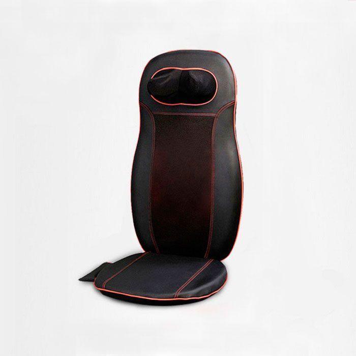 Вибромассажная накидка с роликами для шеи Neck&amp;Back Massage Cushion (черная)Вибрационные массажные накидки <br>Как снять напряжение в мышцах шеи и спины и вновь чувствовать себя бодрым после тяжелого дня?<br><br> Вибромассажная накидка с роликами для шеи Neck&amp;amp;Back Massage Cushion улучшит Ваше самочувствие и избавит от неприятных ощущений в считанные минуты!<br><br><br> Вибромассажная накидка эффективно справляется со своими задачами благодаря различным режимам работы. Вы можете выбрать зону массажа, а также использовать функцию подогрева в холодное время года.  Роликовый массаж нормализует крово- и лимфоток, расширяя сосуды и устраняя напряжение мышц, укрепляет и растягивает позвоночник. <br><br>Преимущества вибромассажной накидки<br> <br><br><br><br><br><br> 3 зоны воздействия<br><br> <br><br><br> Несколько режимов работы<br><br> <br><br><br> Ролики для шеи<br><br> <br><br><br> Прогрев<br><br> <br><br>Отличительные особенности<br><br>Для сидячего положения тела <br>3 основные функции: шиацу, разминание, вибрация<br>3 режима массажа: верхняя, нижняя части и полный массаж спины<br>3 вида разминающего массажа: верх и низ, точечный массаж и массаж шеи<br>Вибросиденье<br>Функция подогрева<br>Пульт в комплекте<br>Автоматическое отключение через 15 мин.<br><br>Способ применения<br><br> Подсоедините сетевой кабель к накидке. Вставьте кабель в розетку. Нажмите кнопку On/Off на пульте, чтобы включить накидку. Накидка начнет работу в автоматическом режиме. Выберите зону массажа. При необходимости включите функцию вибрации, подогрева при помощи соответствующих кнопок на пульте. После завершения сеанса массажа нажмите на кнопку On/Off на пульте ДУ, отключите от сети. Не рекомендуется использовать массажную накидку ранее, чем через час после приема пищи, а также при плохом самочувствии, повышенной температуре тела, при наличии серьезных заболеваний, беременным женщинам. Перед очисткой отсоедините накидку от сети питания. Используйте мягкую влажную ткань без агрессивн